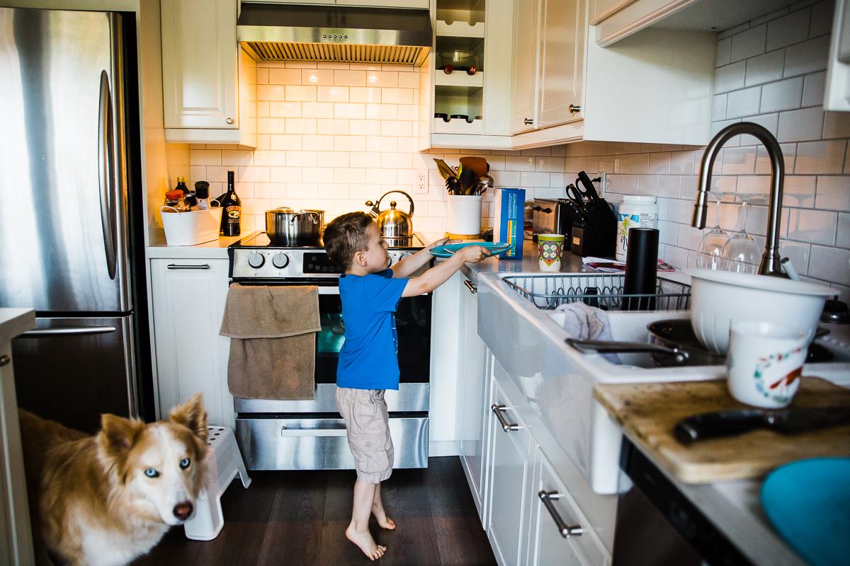In Home Dinner Time Documentary Blended Family -51-052.JPG