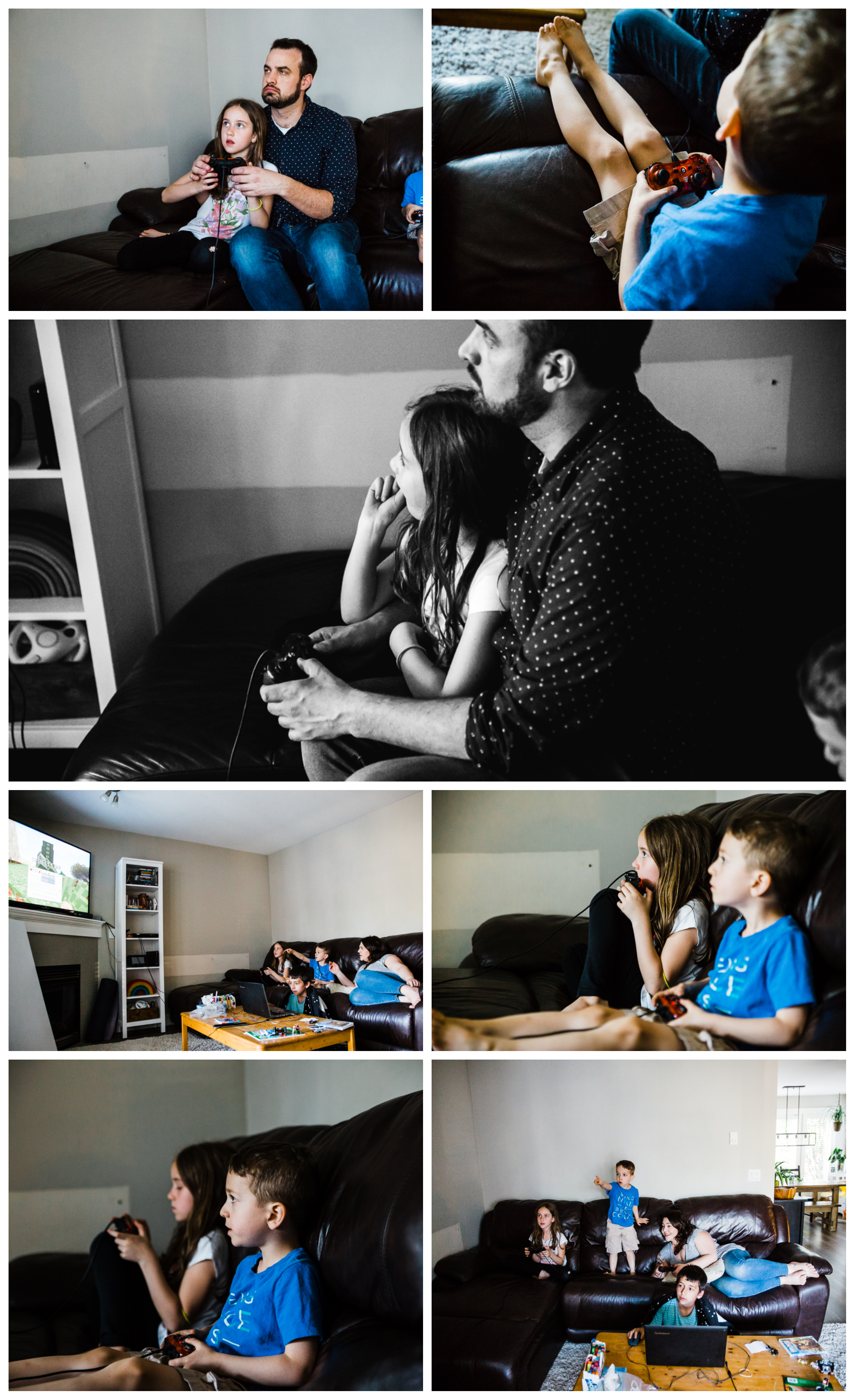 playing playstation young family after dinner blended family.jpg