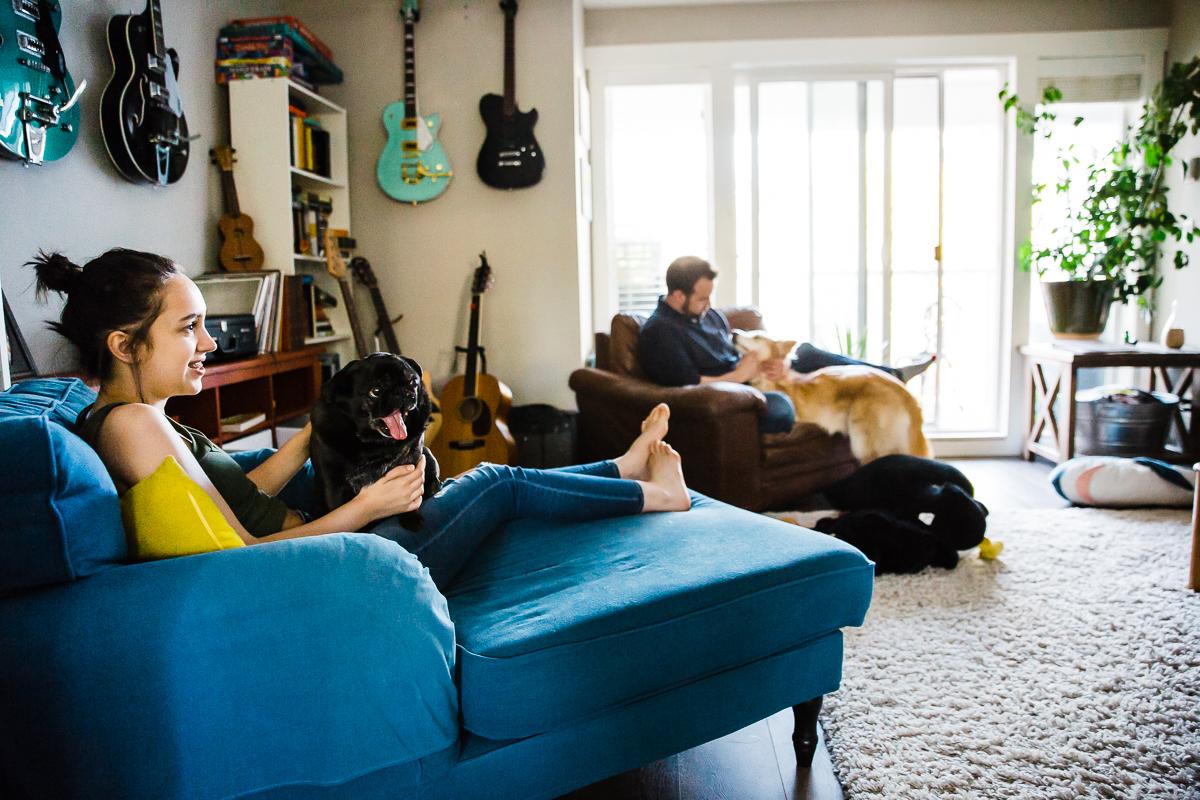 In Home Dinner Time Documentary Blended Family -67-069.JPG