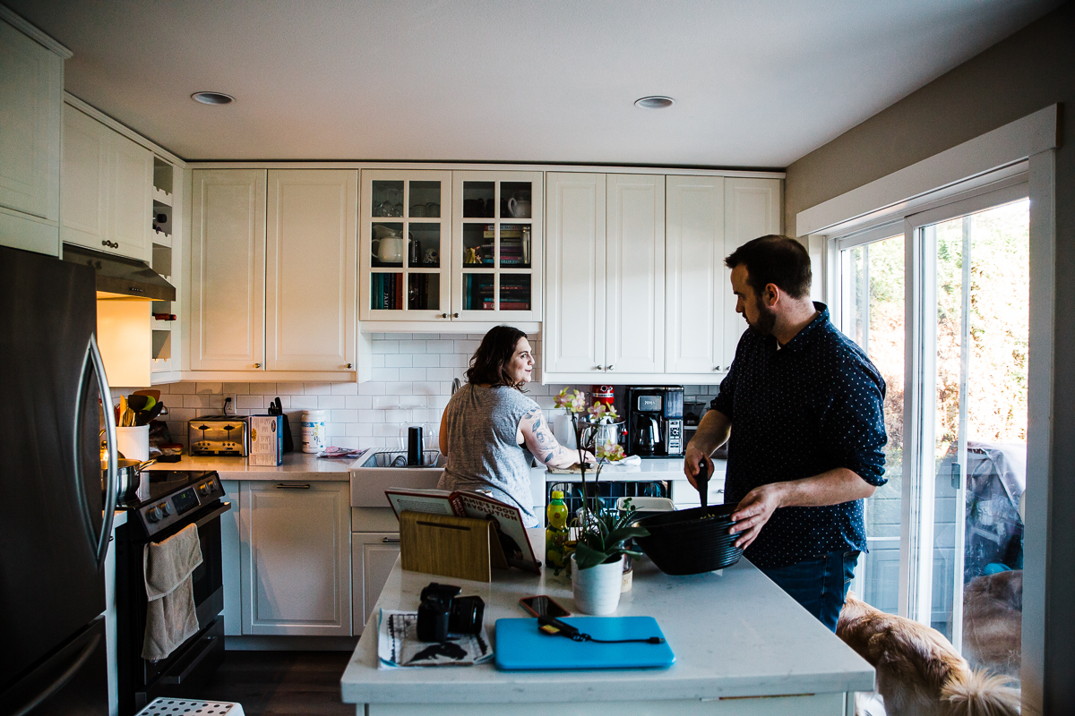 In Home Dinner Time Documentary Blended Family -58-060.JPG