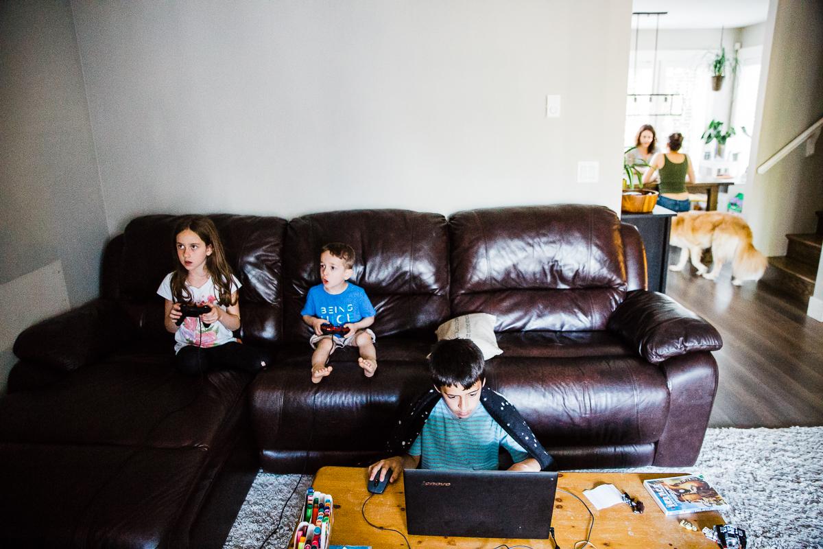 In Home Dinner Time Documentary Blended Family -77-081.JPG