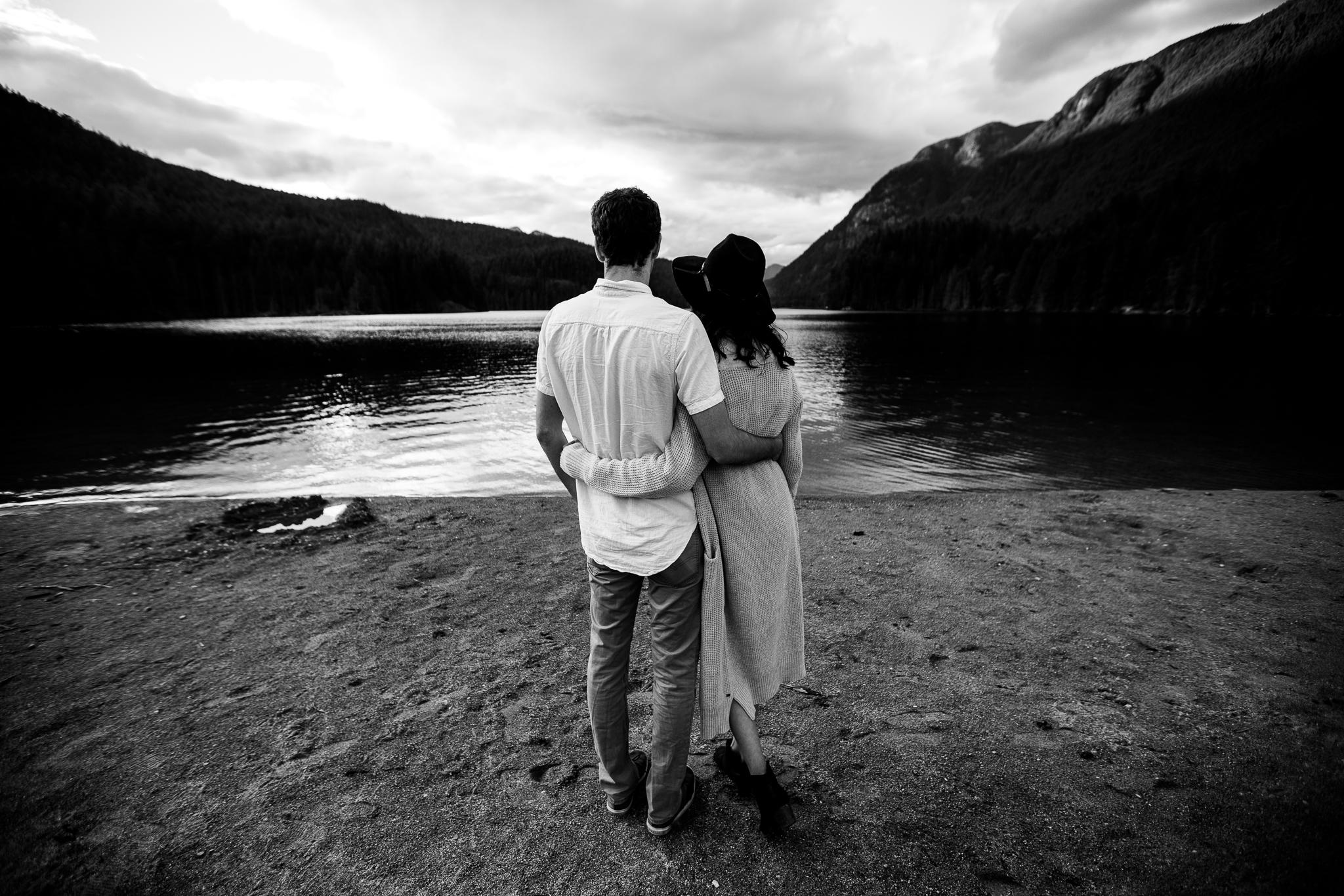 Photo of Buntzen Lake Anmore British Columbia Landscape Best Fun Engagement Photographer Port Moody Wedding Sunset Romantic Couple Photos 094.jpg