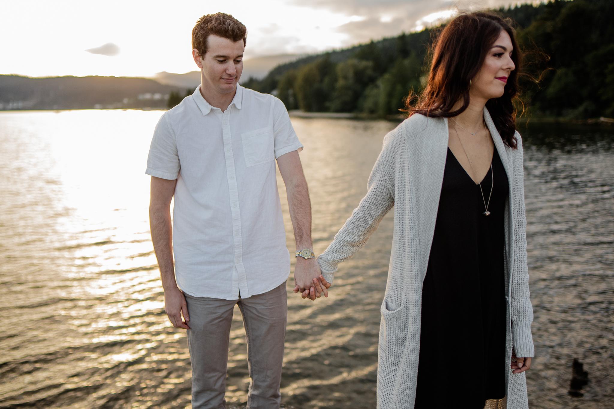 Photo of Buntzen Lake Anmore British Columbia Landscape Best Fun Engagement Photographer Port Moody Wedding Sunset Romantic Couple Photos 169.jpg