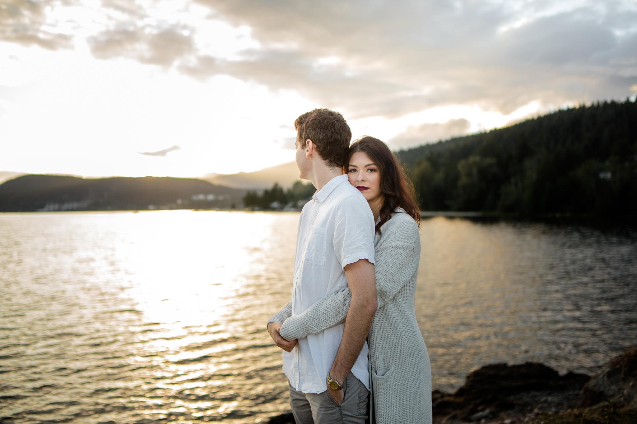 Photo of Buntzen Lake Anmore British Columbia Landscape Best Fun Engagement Photographer Port Moody Wedding Sunset Romantic Couple Photos 189.jpg