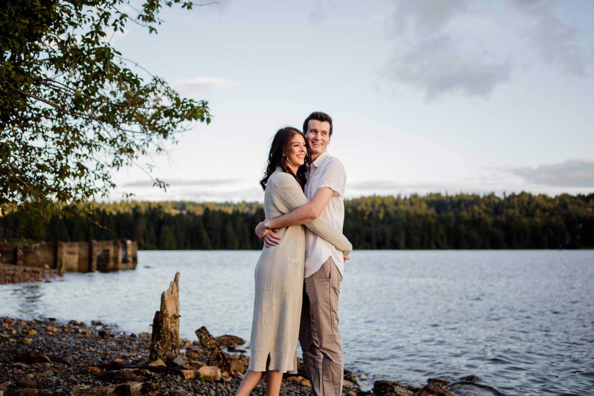 Photo of Buntzen Lake Anmore British Columbia Landscape Best Fun Engagement Photographer Port Moody Wedding Sunset Romantic Couple Photos 177.jpg