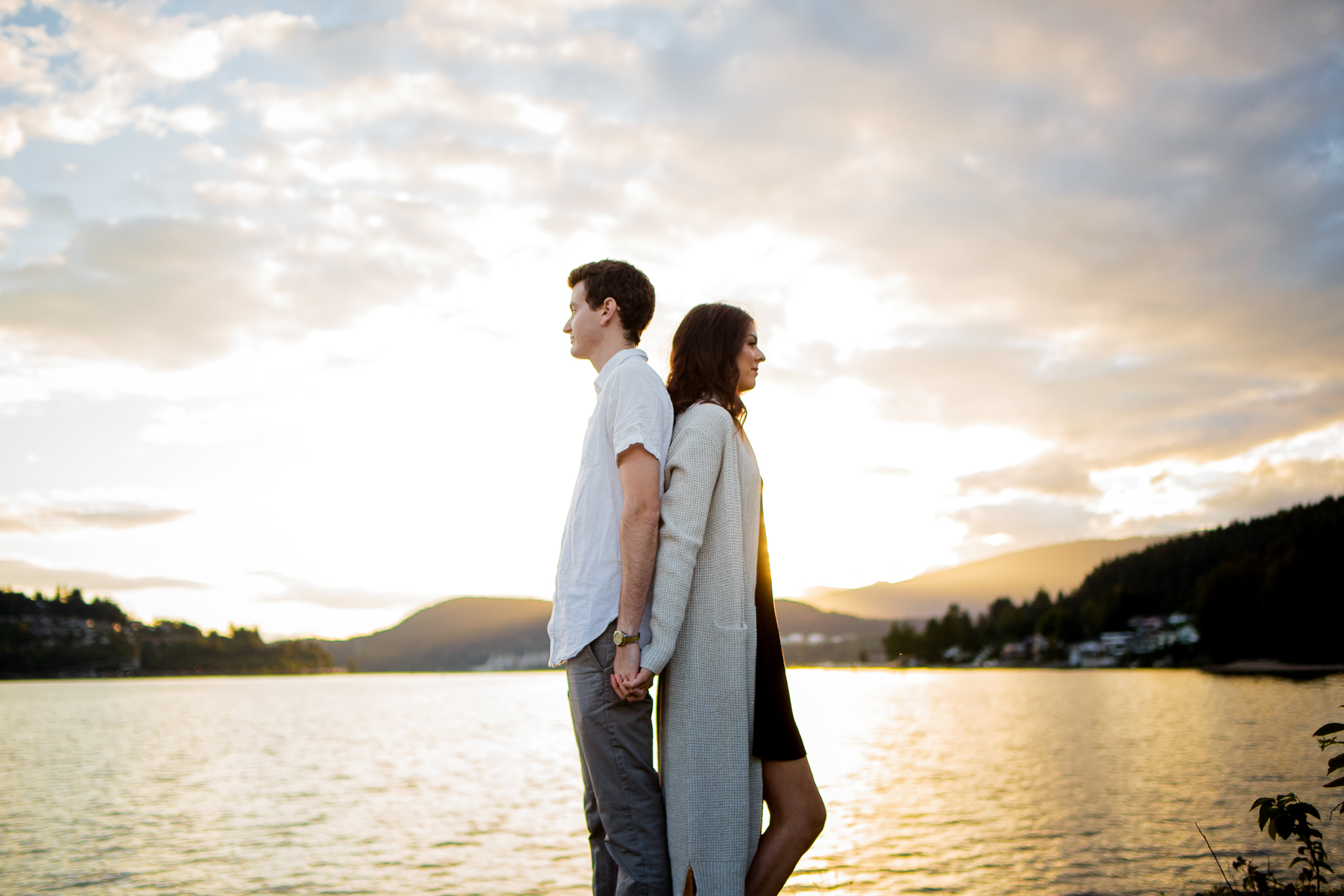 Photo of Buntzen Lake Anmore British Columbia Landscape Best Fun Engagement Photographer Port Moody Wedding Sunset Romantic Couple Photos 199.jpg