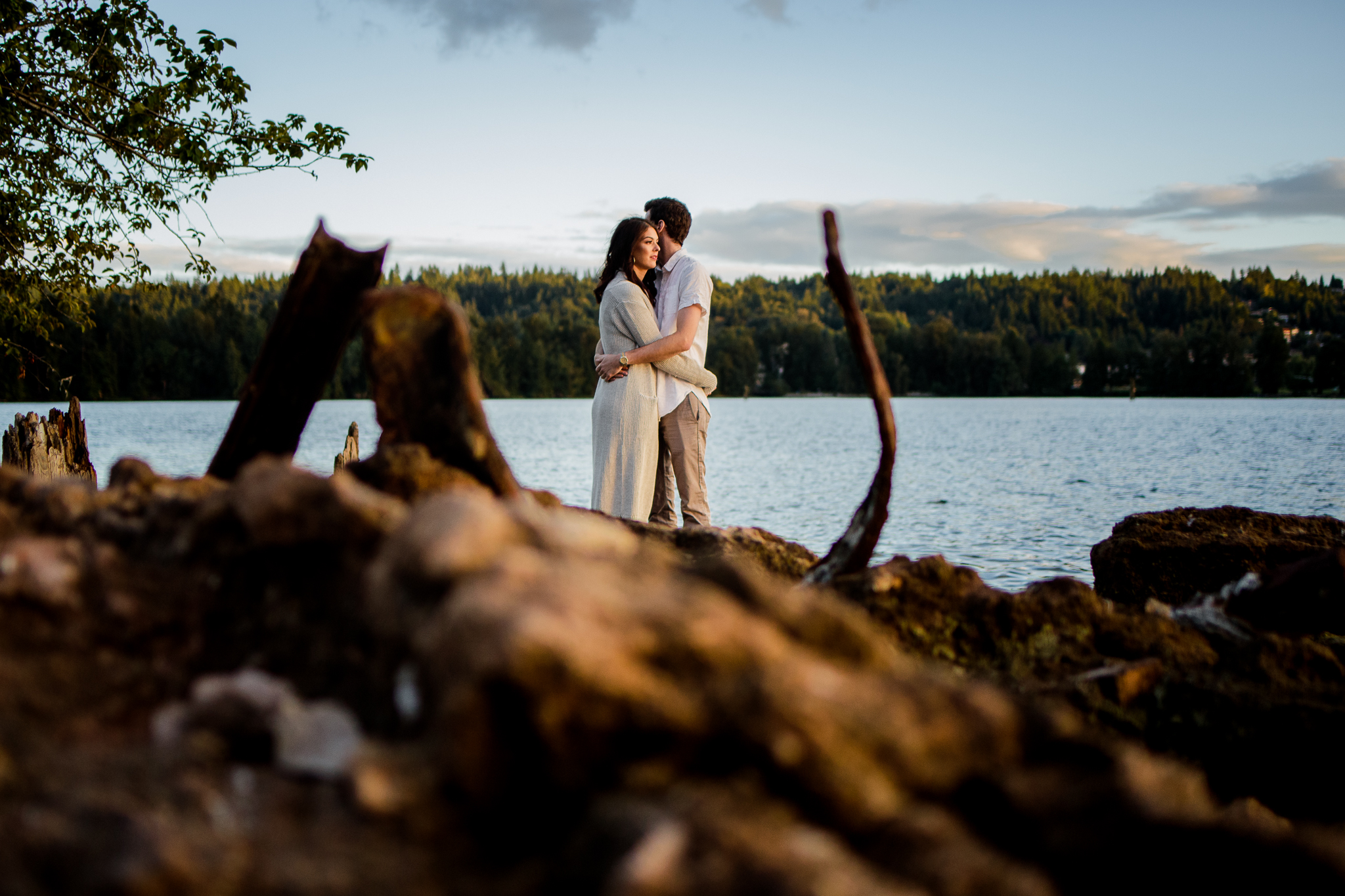 Photo of Buntzen Lake Anmore British Columbia Landscape Best Fun Engagement Photographer Port Moody Wedding Sunset Romantic Couple Photos 181.jpg