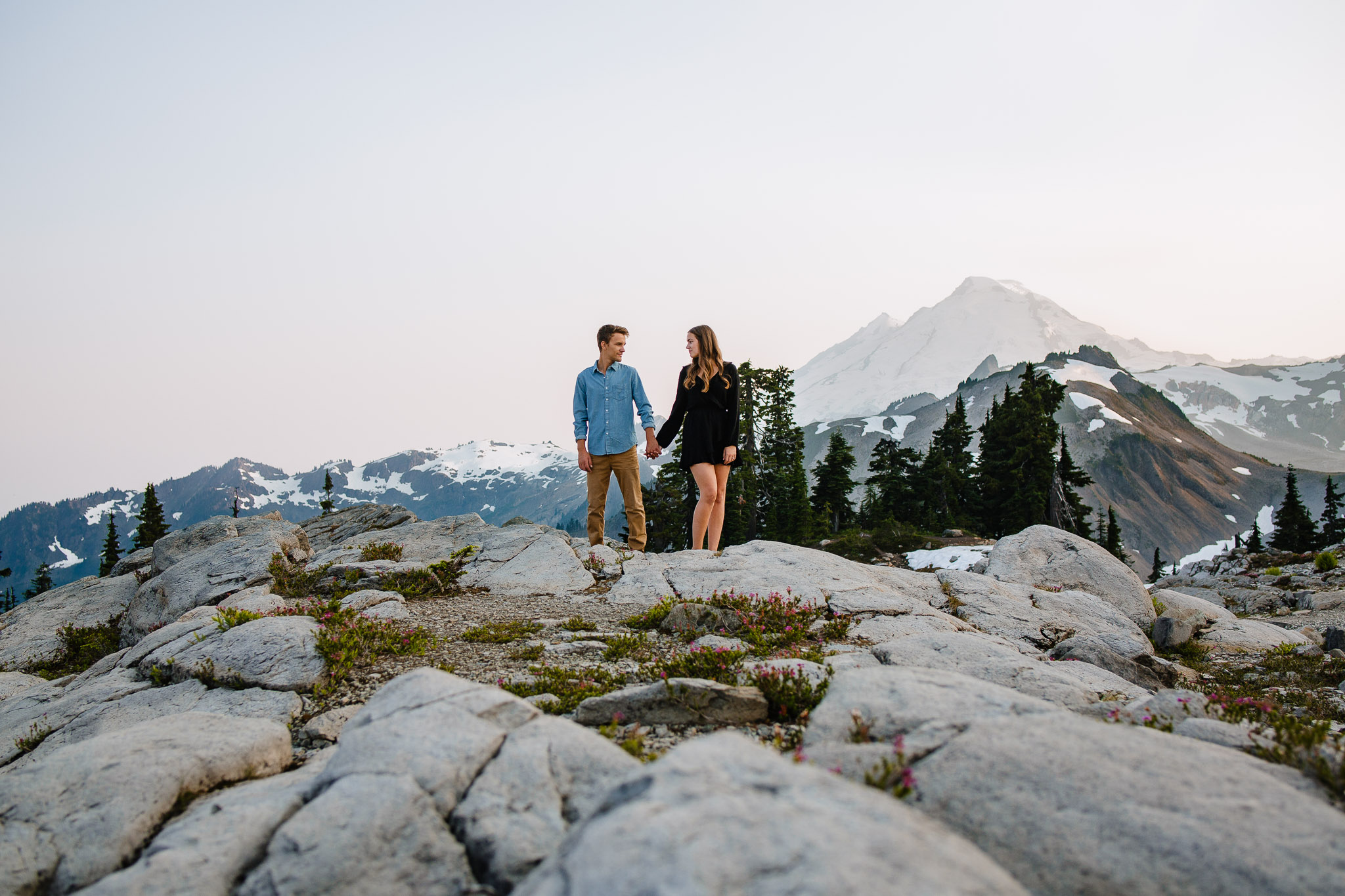 Artist Point Mount Baker Scenery Engagement Photography Inspo Couple Romantic Young Black Jean Sunset-085.jpg