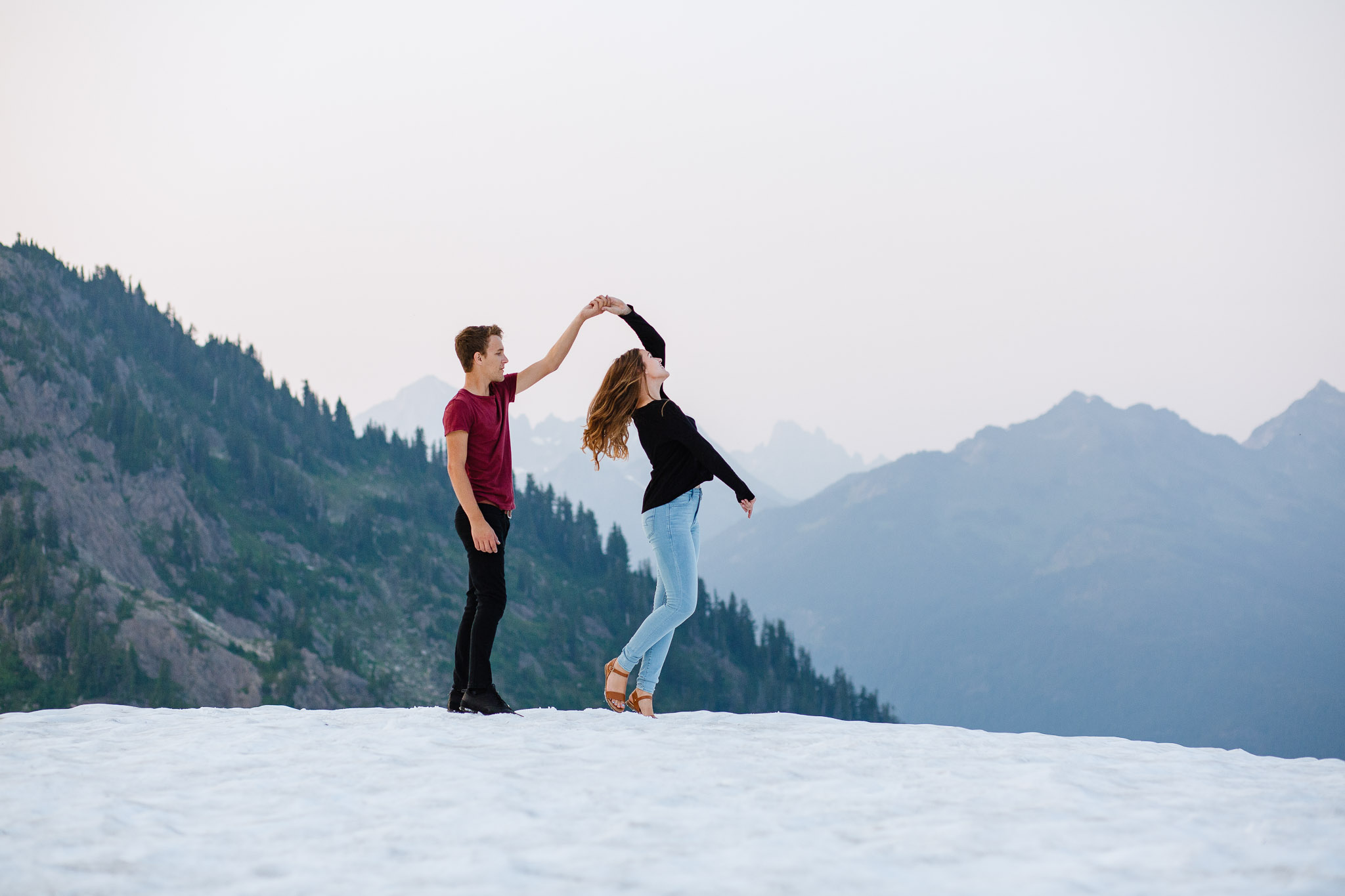 Artist Point Mount Baker Scenery Engagement Photography Inspo Couple Romantic Young Black Jean Sunset-193.jpg