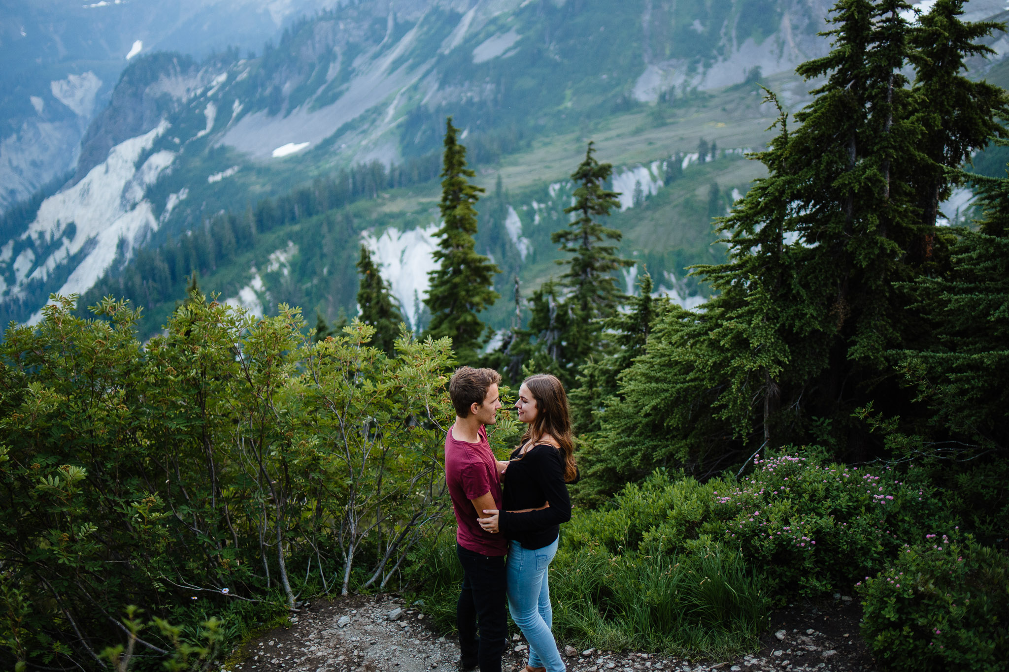 Artist Point Mount Baker Scenery Engagement Photography Inspo Couple Romantic Young Black Jean Sunset-237.jpg
