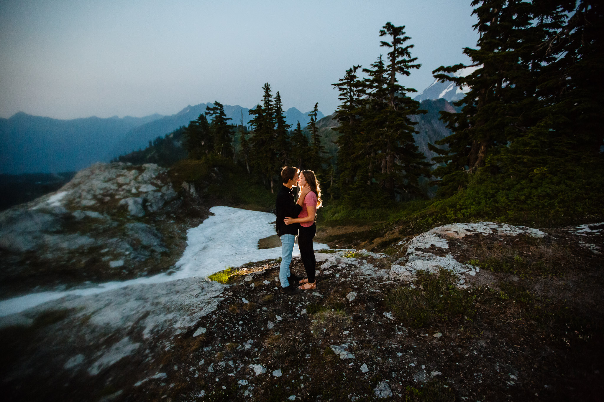 Artist Point Mount Baker Scenery Engagement Photography Inspo Couple Romantic Young Black Jean Sunset-306.jpg