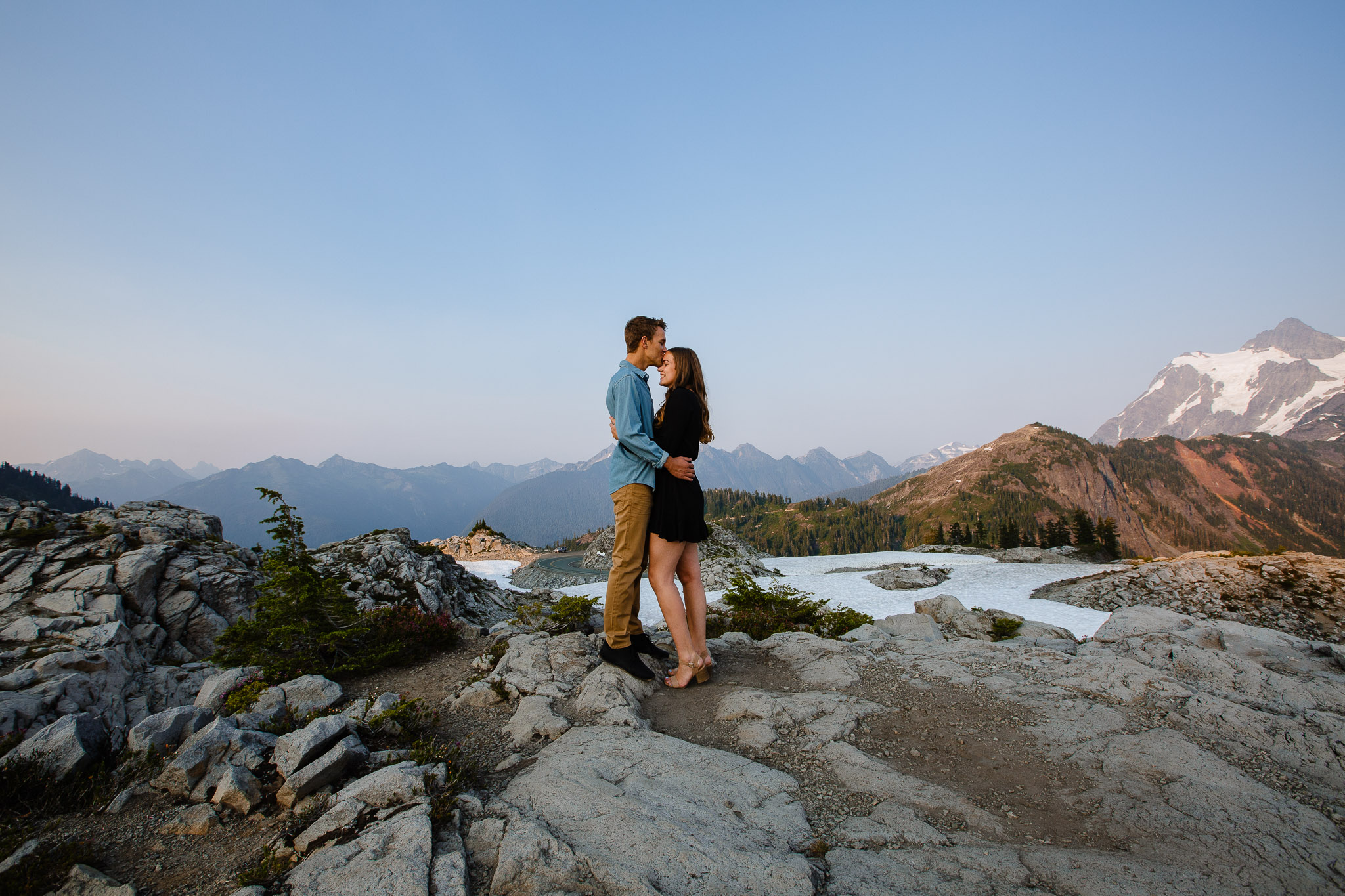 Artist Point Mount Baker Scenery Engagement Photography Inspo Couple Romantic Young Black Jean Sunset-023.jpg