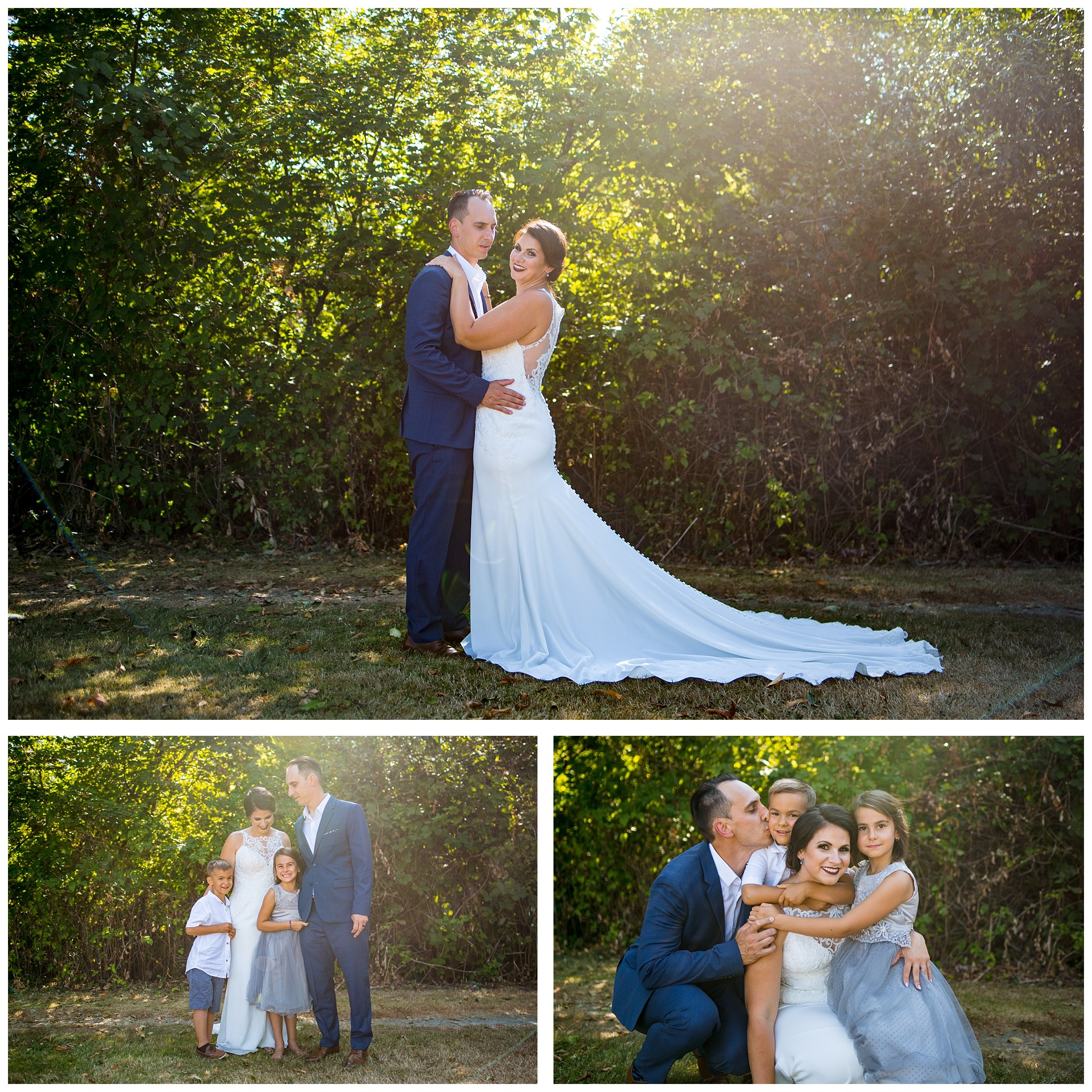 Aldergrove backyard summer wedding photographer bc canada outdoor garden inspiration family couple with kids, bride and groom_0065.jpg