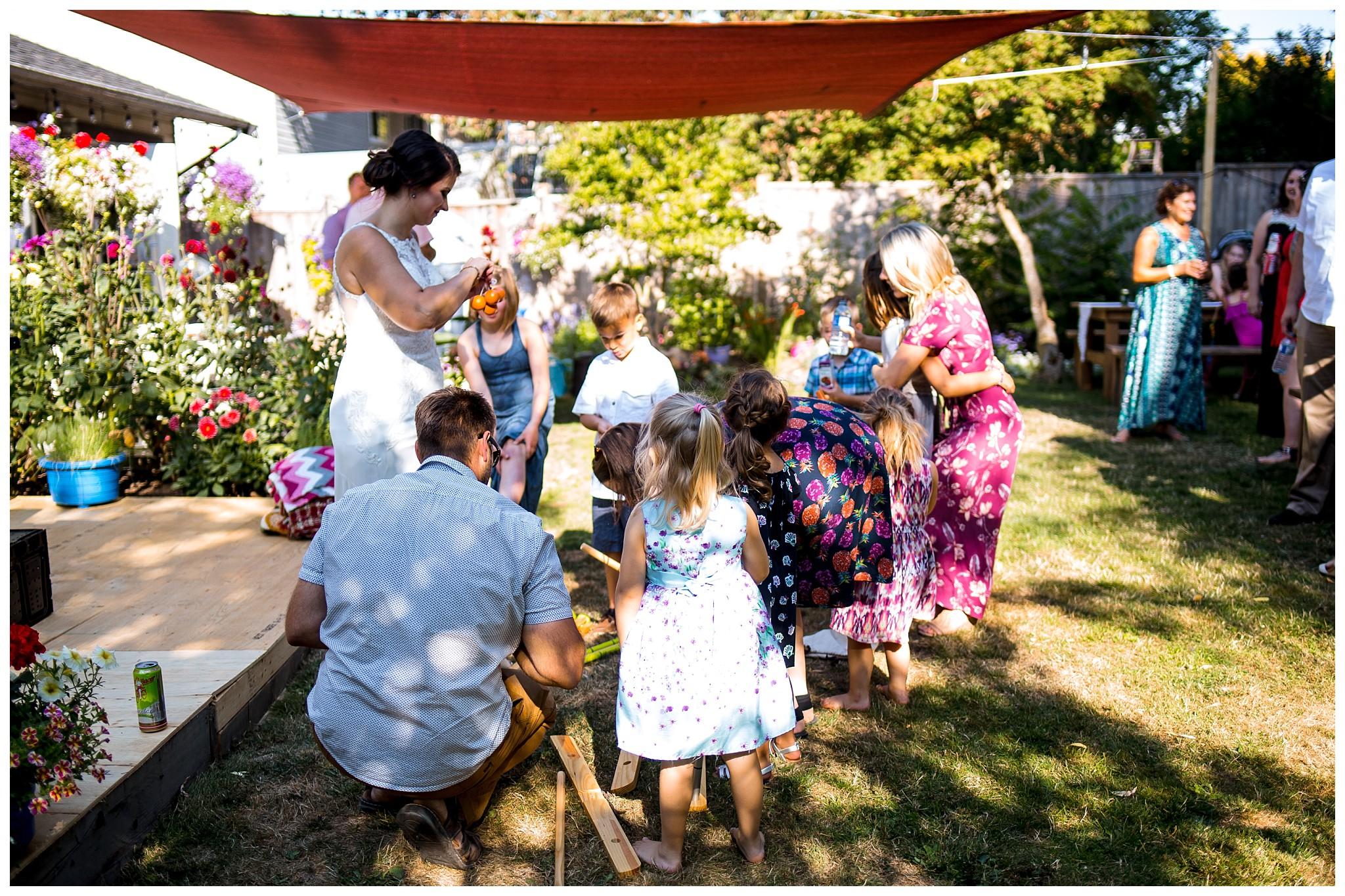 Aldergrove backyard summer wedding photographer bc canada outdoor garden inspiration family couple with kids, bride and groom_0066.jpg