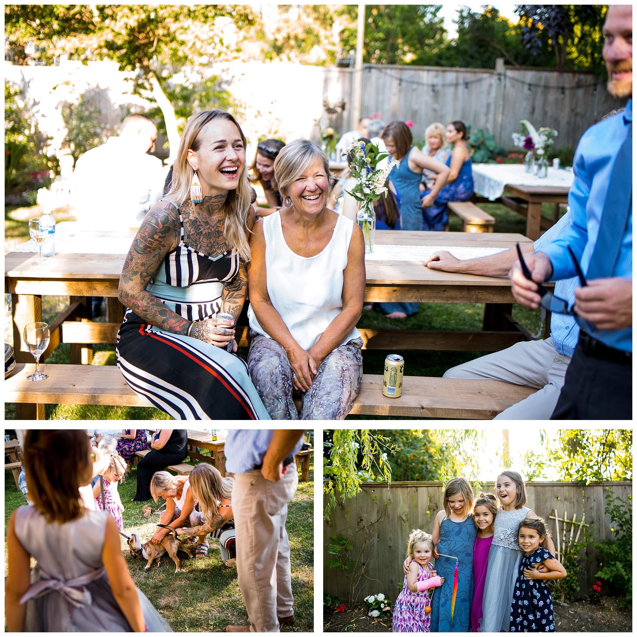 Aldergrove backyard summer wedding photographer bc canada outdoor garden inspiration family couple with kids, bride and groom_0072.jpg