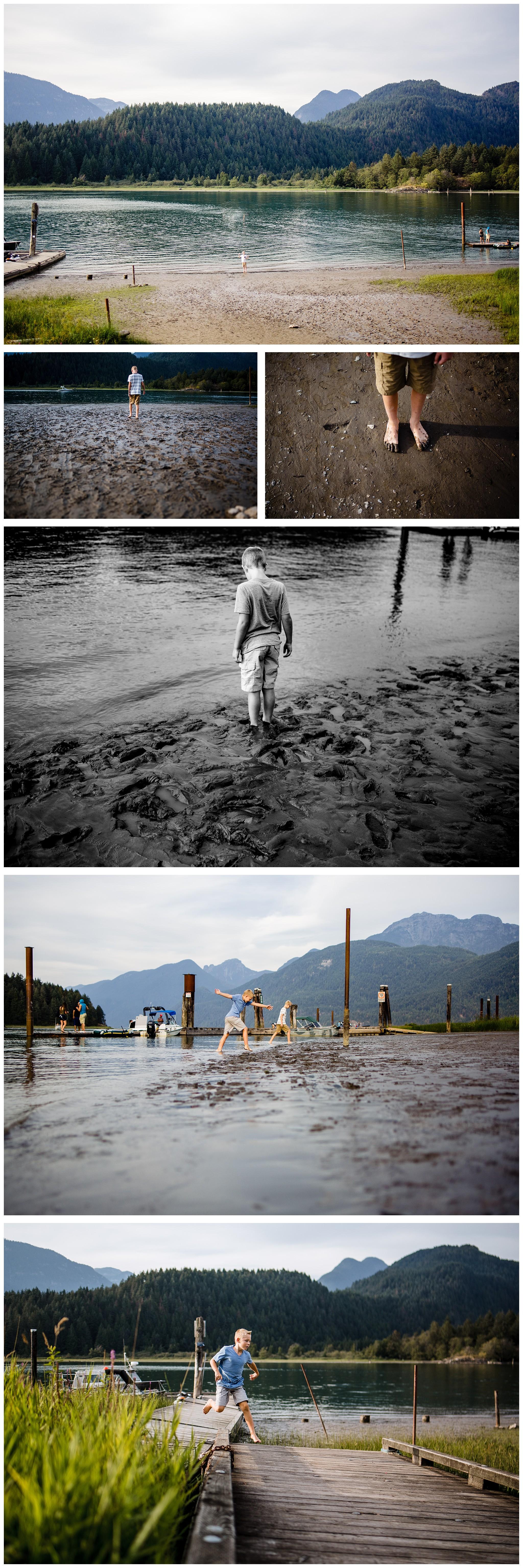Pitt Lake Documentary Family Photographer Bubbles Mud Family of 6 Boys Girls Children_0090.jpg