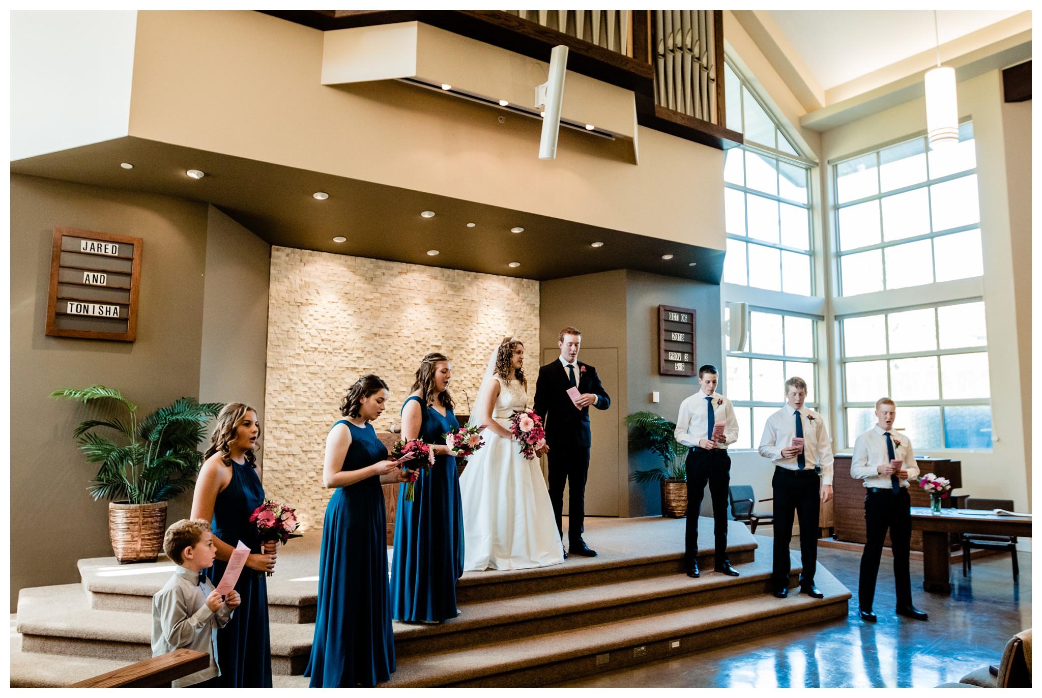 Aldergrove Park Christian Church Wedding Photography Pink Flowers Blue Bridesmaid Dress Fall_0070.jpg