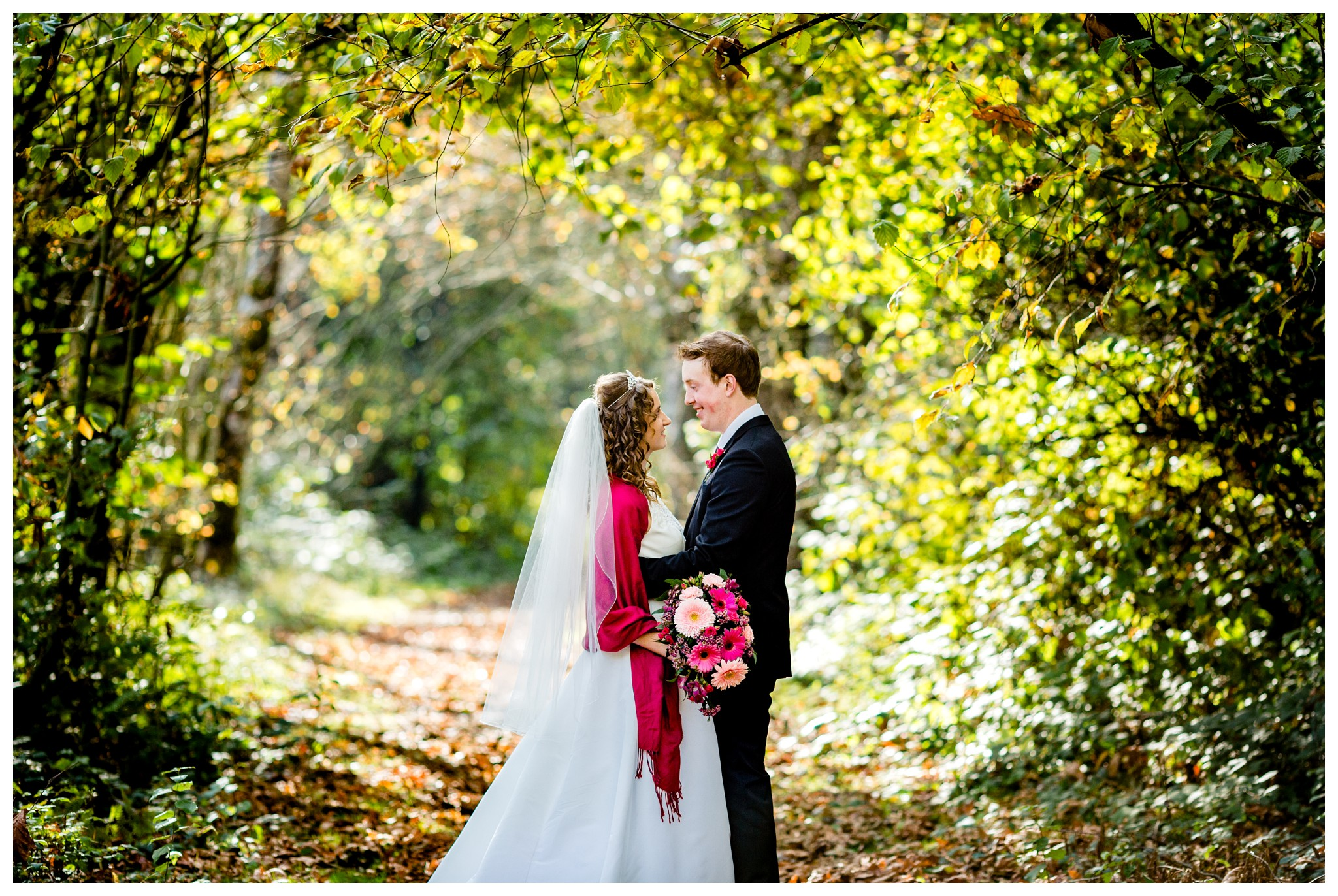 Aldergrove Park Christian Church Wedding Photography Pink Flowers Blue Bridesmaid Dress Fall_0087.jpg
