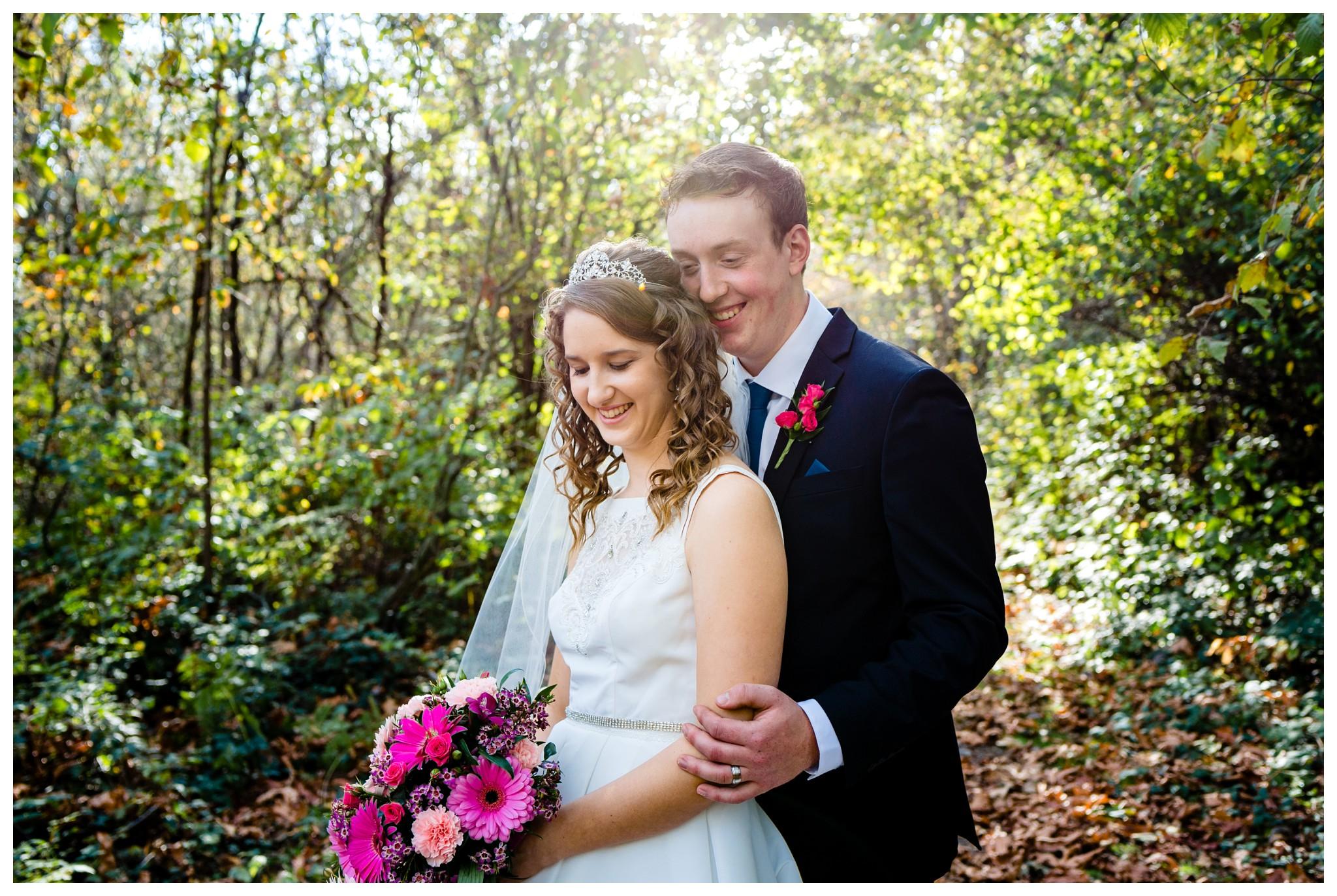 Aldergrove Park Christian Church Wedding Photography Pink Flowers Blue Bridesmaid Dress Fall_0098.jpg