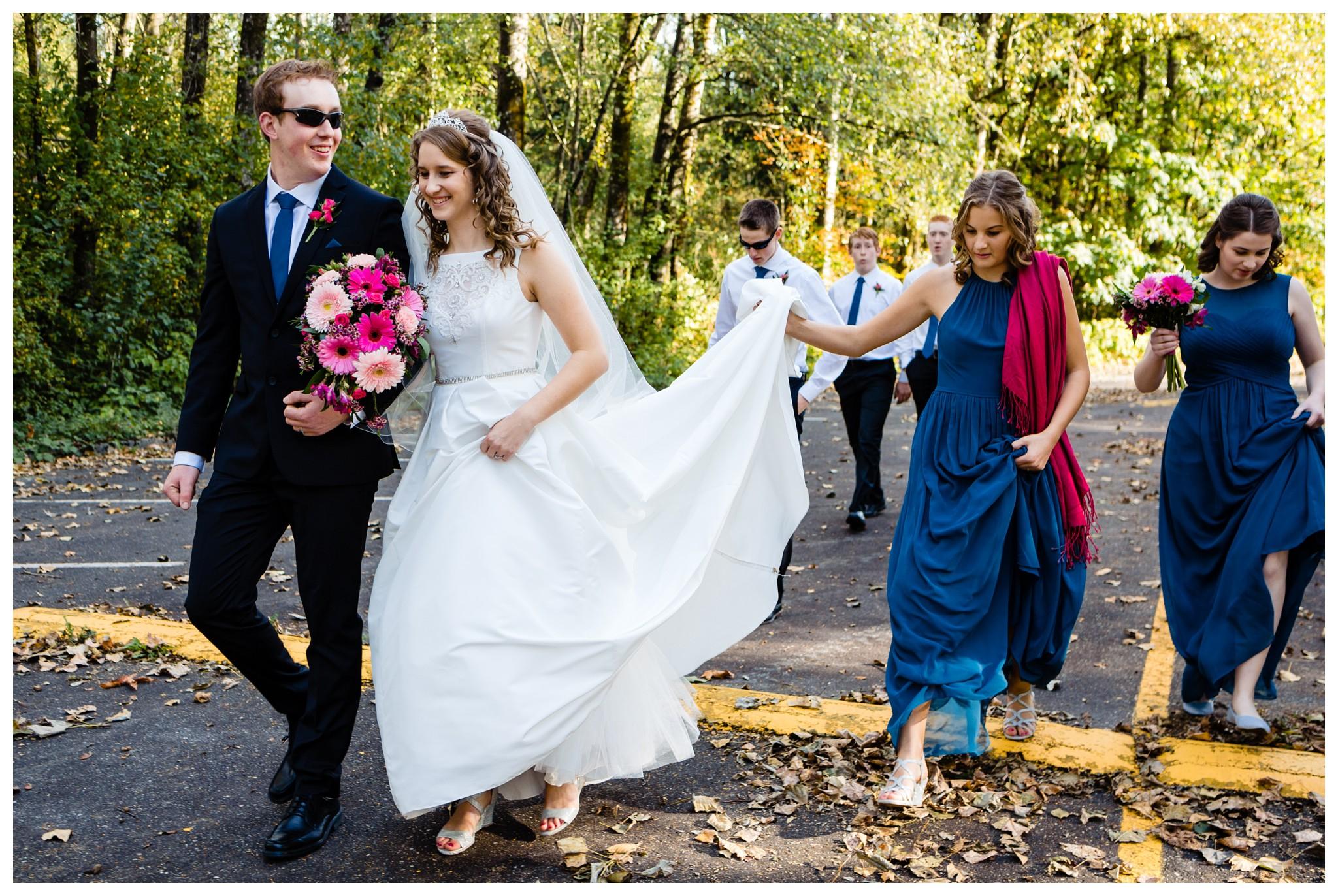 Aldergrove Park Christian Church Wedding Photography Pink Flowers Blue Bridesmaid Dress Fall_0099.jpg