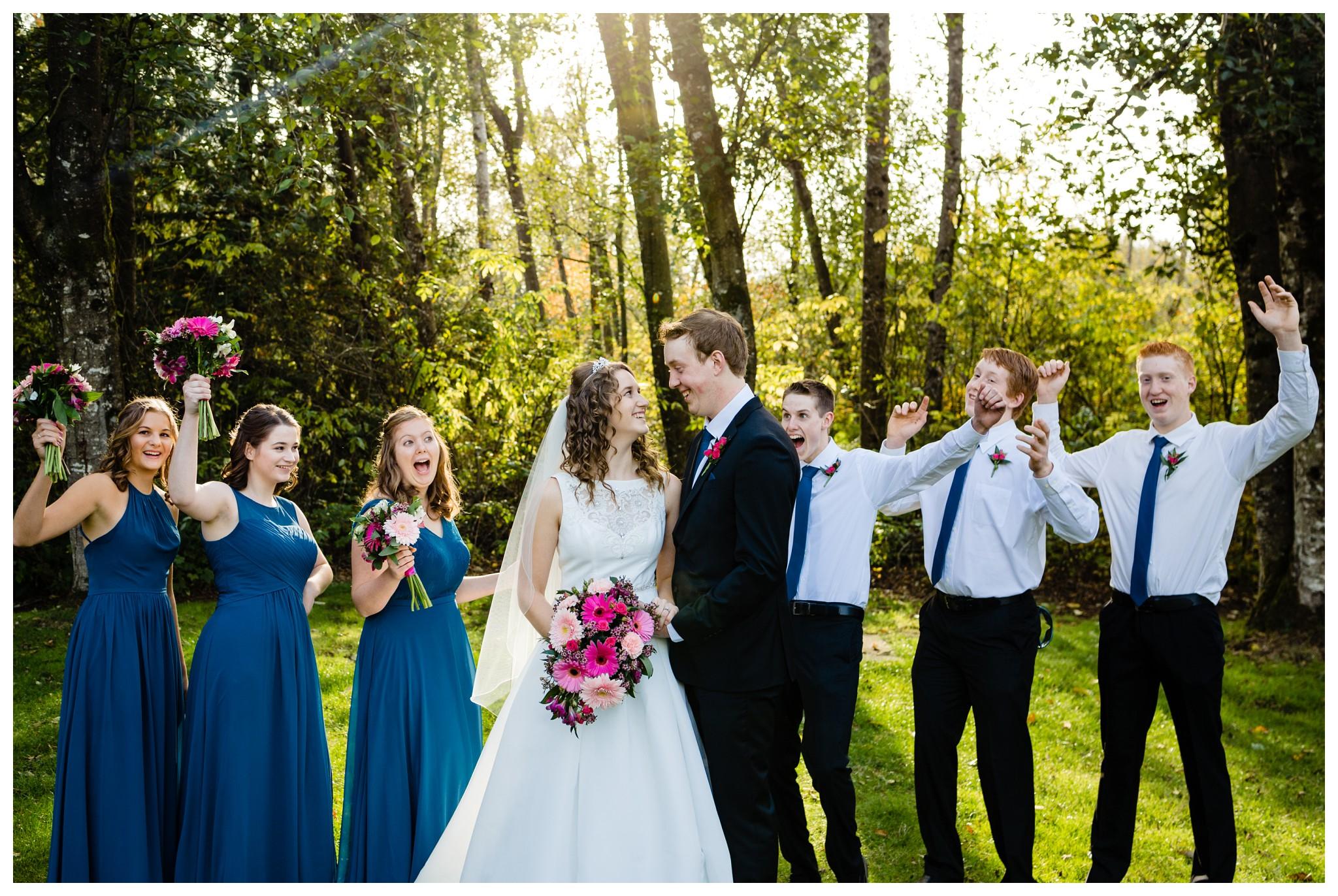 Aldergrove Park Christian Church Wedding Photography Pink Flowers Blue Bridesmaid Dress Fall_0105.jpg