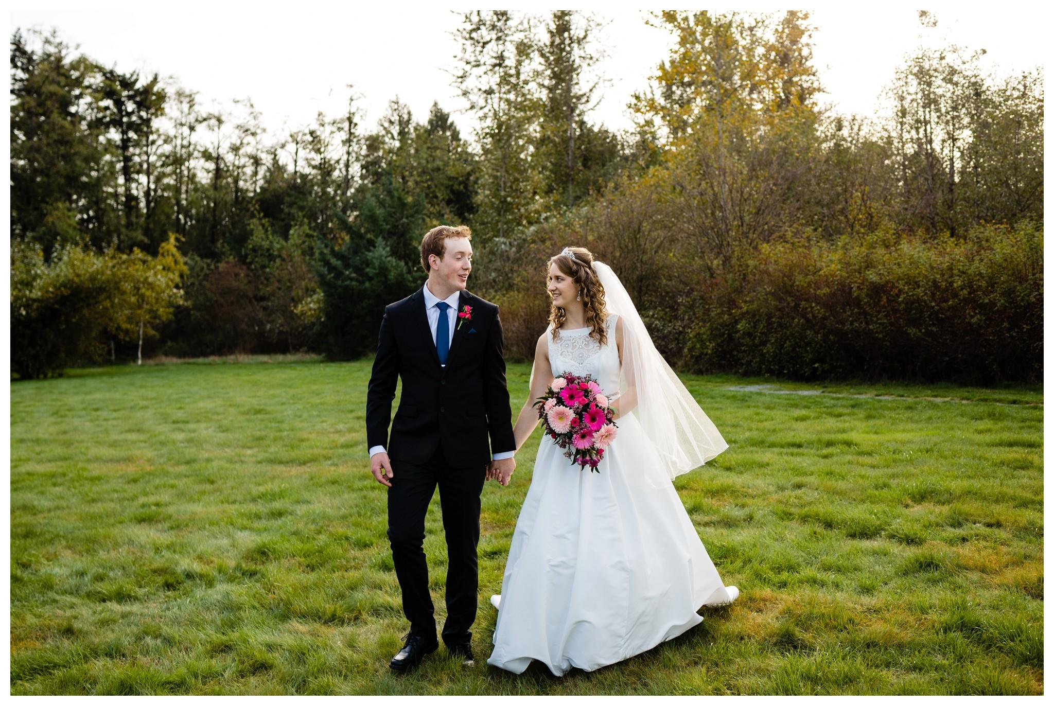 Aldergrove Park Christian Church Wedding Photography Pink Flowers Blue Bridesmaid Dress Fall_0108.jpg