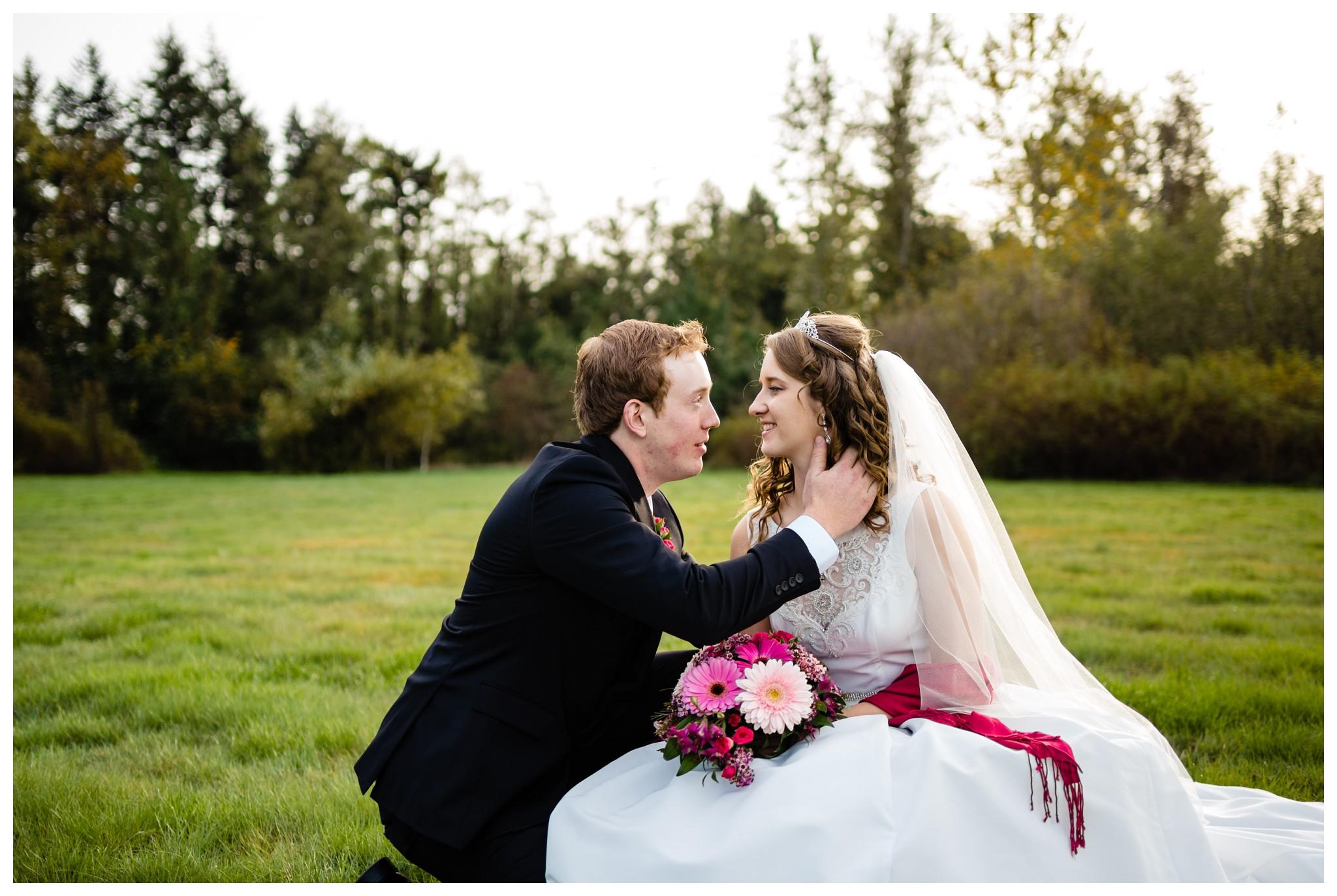 Aldergrove Park Christian Church Wedding Photography Pink Flowers Blue Bridesmaid Dress Fall_0119.jpg