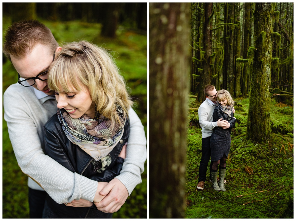 Alouette Lake Spirea Forest Engagement Photo Session Green Forest Woods Rich Colours Candid Happy Love Maple Ridge photographer_0005.jpg
