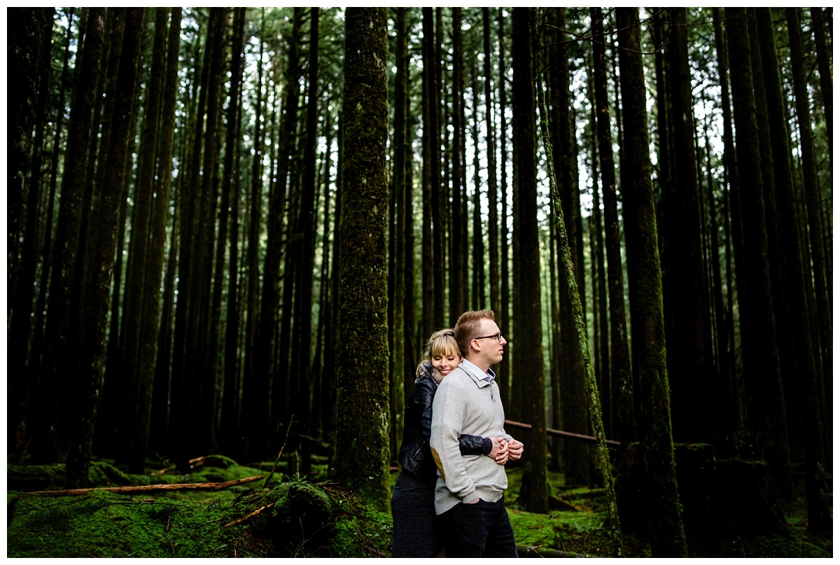 Alouette Lake Spirea Forest Engagement Photo Session Green Forest Woods Rich Colours Candid Happy Love Maple Ridge photographer_0012.jpg