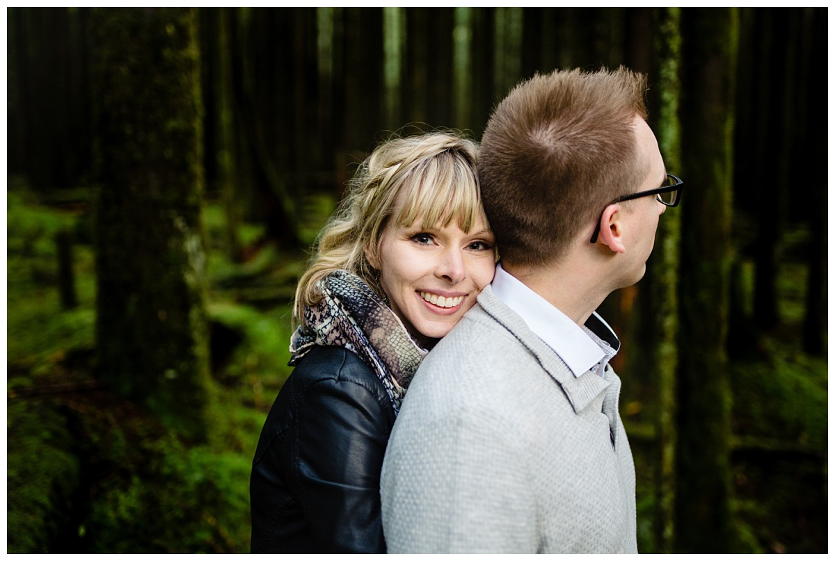 Alouette Lake Spirea Forest Engagement Photo Session Green Forest Woods Rich Colours Candid Happy Love Maple Ridge photographer_0013.jpg