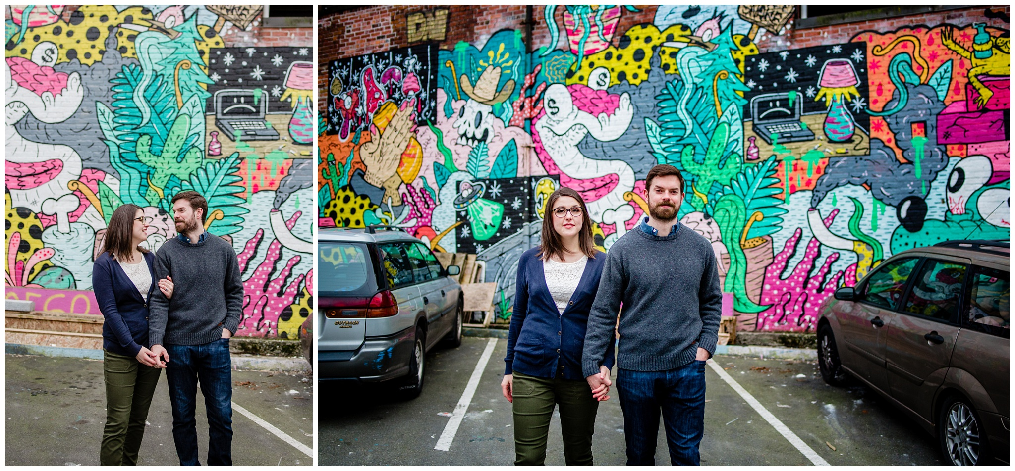 Olympic Village Mural Walk Engagement Urban Fun Casual Photography Mimsical Photography 2019_0005.jpg