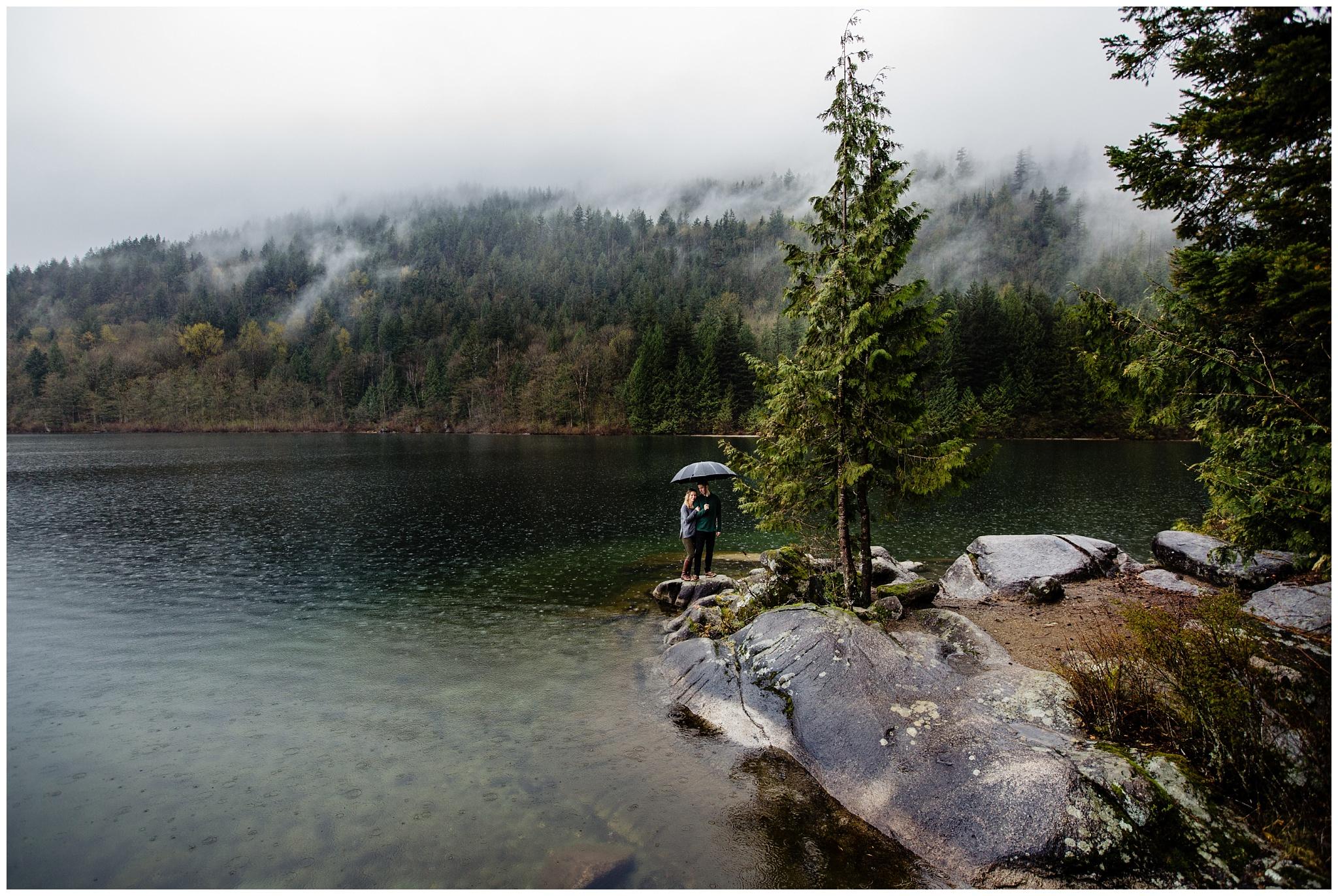 Hicks Lake Sasquatch Provincial Park Engagement Session Rain Umbrella_0028.jpg
