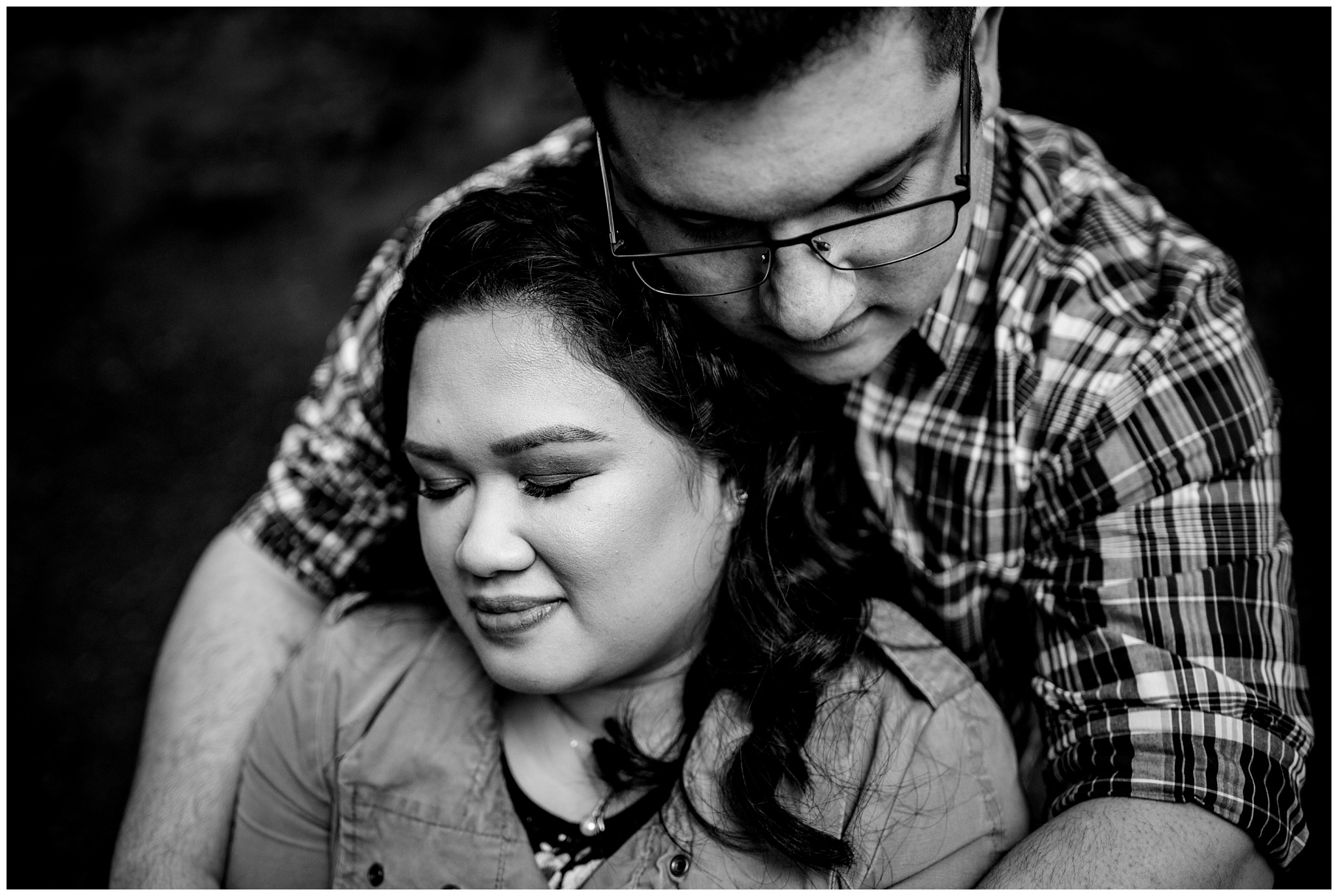 McKay Creek Park Abbotsford Spring Engagement Photos Happy Forest Trees Green Candid Fun Couple Photos_0016.jpg