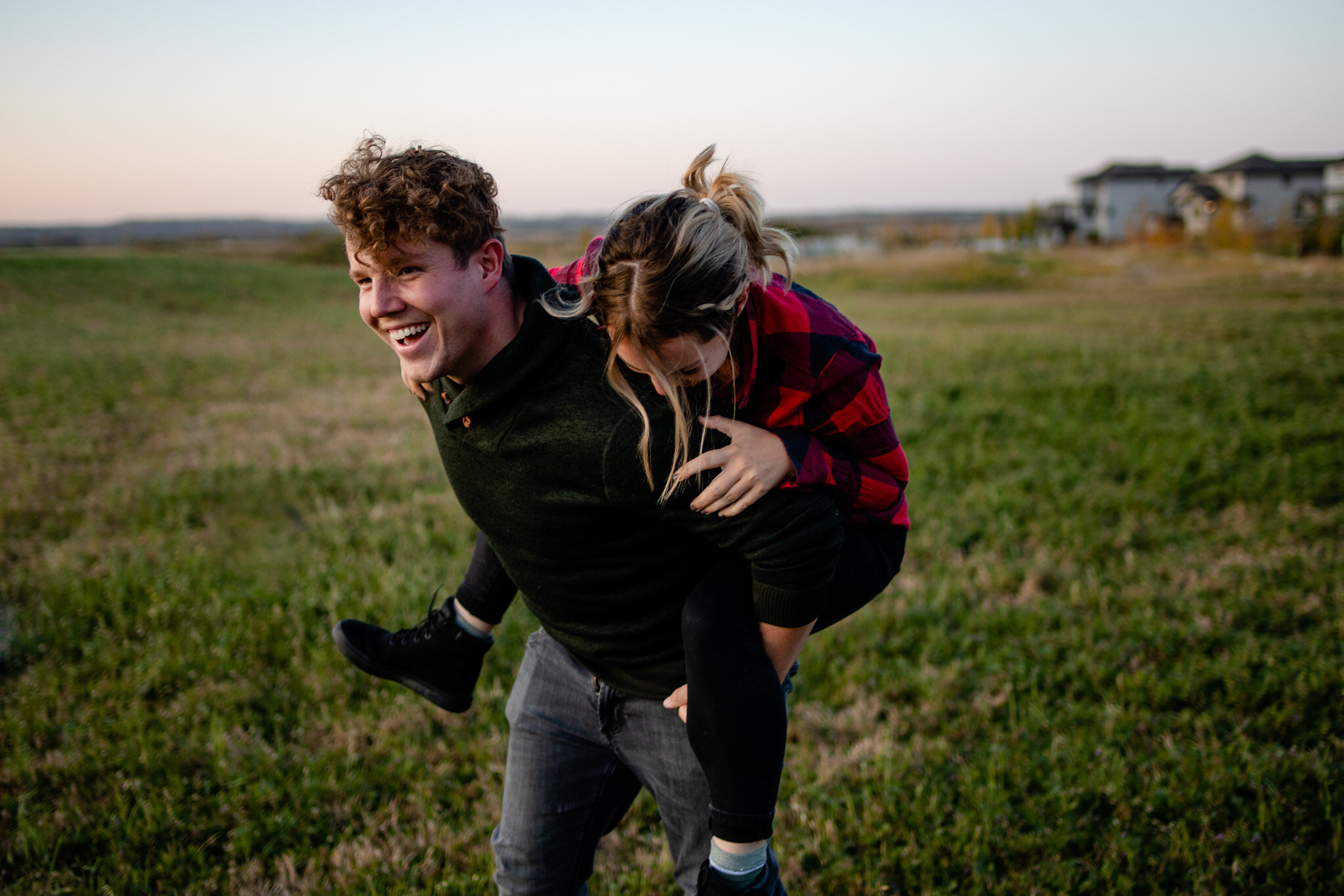 Connection Session Spruce Grove Couples Photographer Playful Fun Laughter Romantic Field Sunset-009.jpg