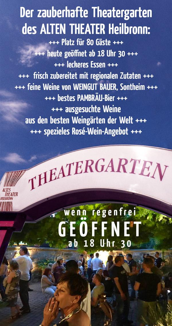 Theatergarten hat geöffnet