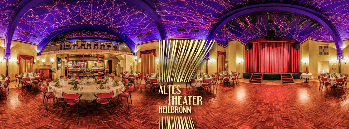 360° Sicht in unseren zauberschönen Festsaal mit Theaterbühne, Theaterbar und Sternenhimmel - Hochzeitslocation der besonderen Art