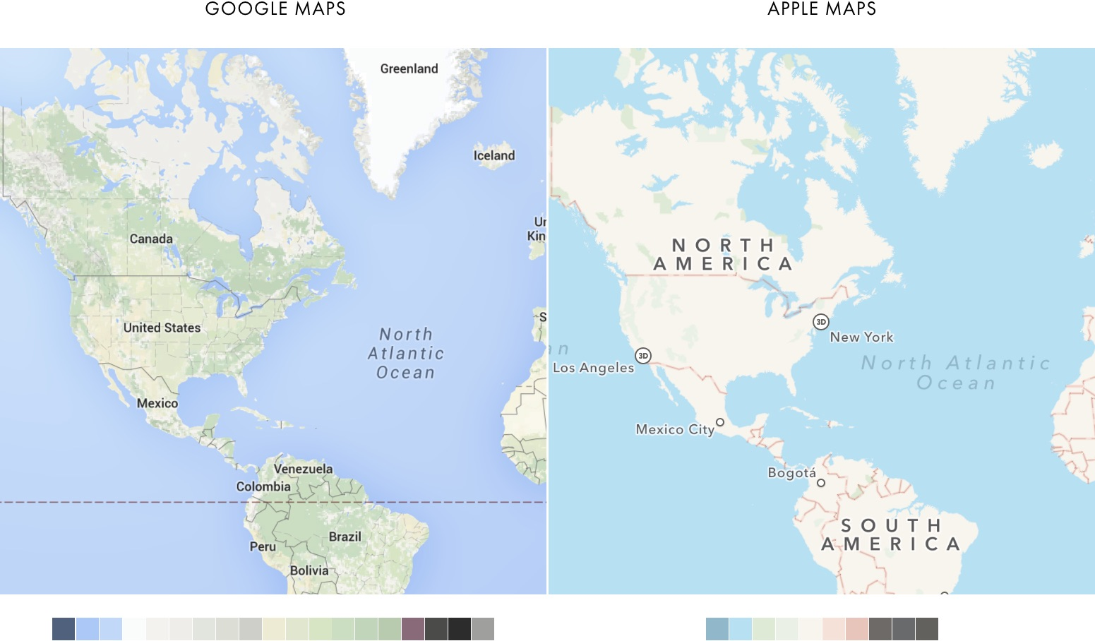 Cartography Comparison: Google & Apple on map of the americas, map of the corpus christi, map of the denver, map of nyc, map of the upper west side, map of the pepacton reservoir, map of the southern tier, map of the bagua, map of queens, map of the 5 boros, google map bronx, map of westchester county, map of bronx new york, map of brooklyn, map of the long island, map of the north slope borough, map of the kodiak island, map of inside out, map of staten island, map of manhattan,