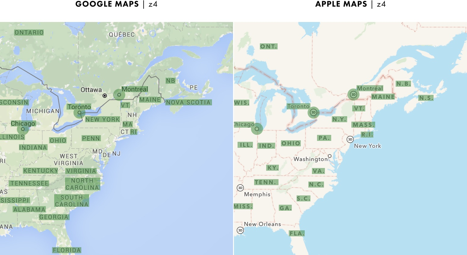 Cartography Comparison, Part 2