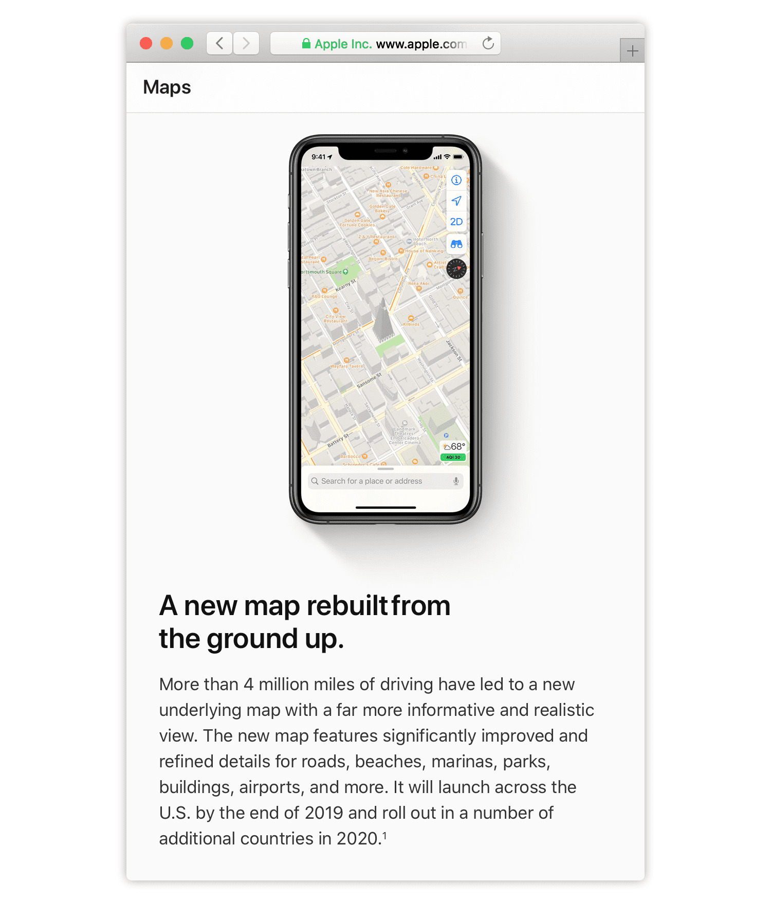 5-4 Apple Maps Webpage.png