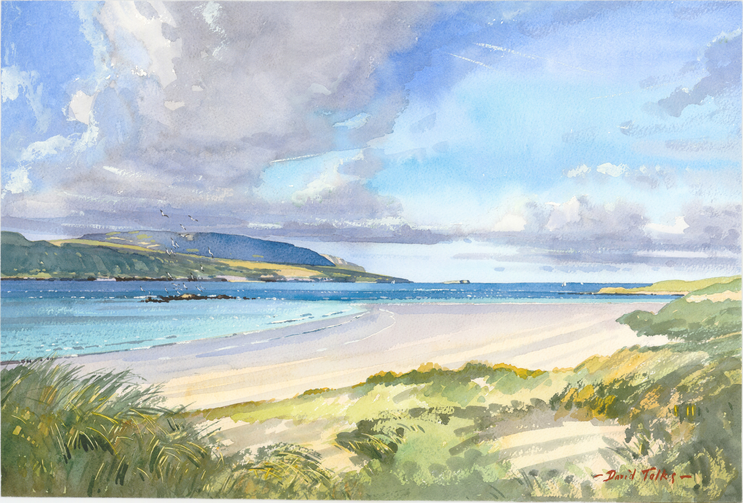 TOWARDS CAPE WRATH SUTHERLAND:  13 x 20 in:  Watercolour