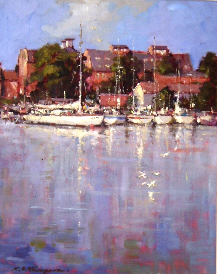 YACHTS AT OULTON BROAD: Oil