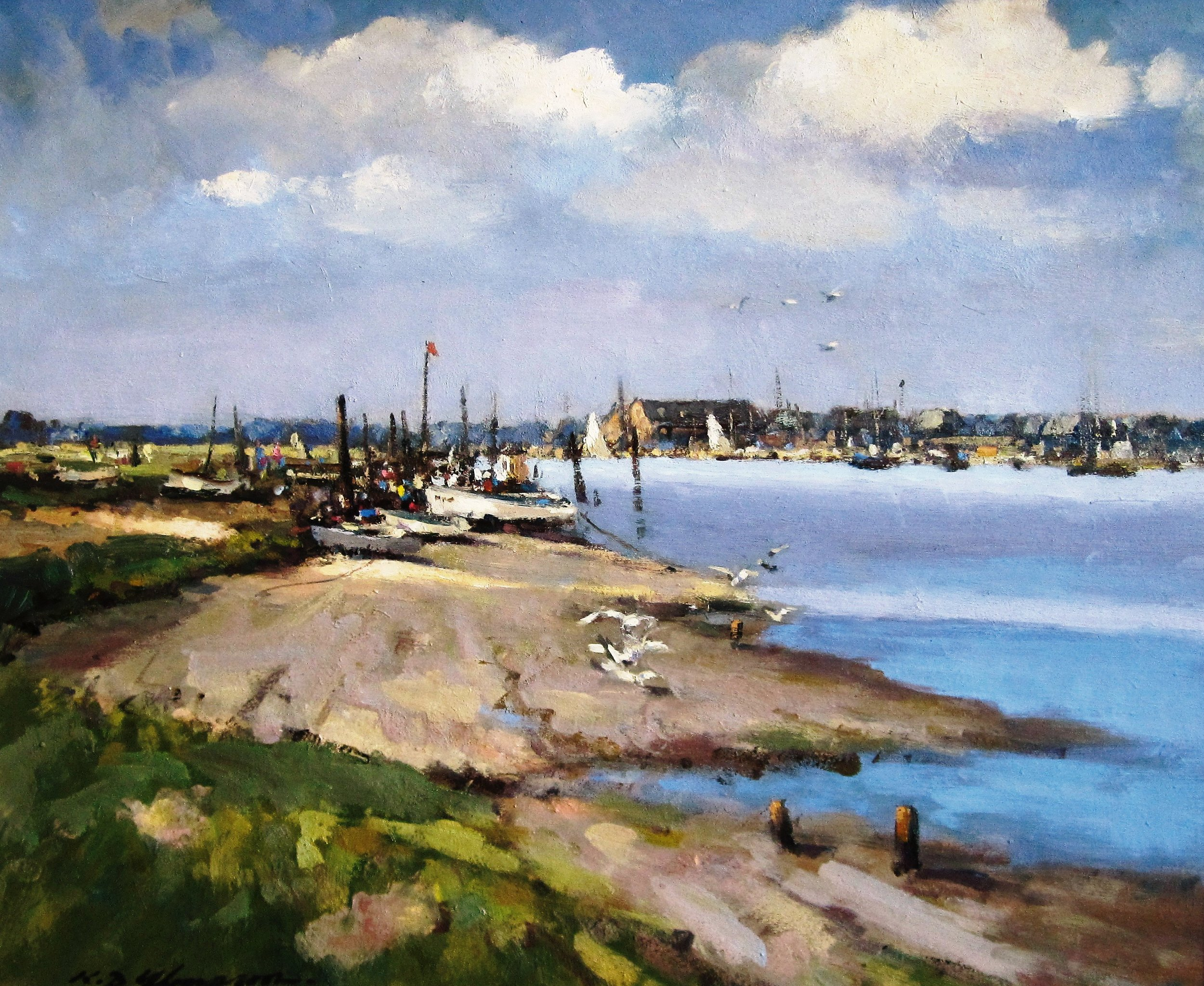 VIEW OF SOUTHWOLD: Oil