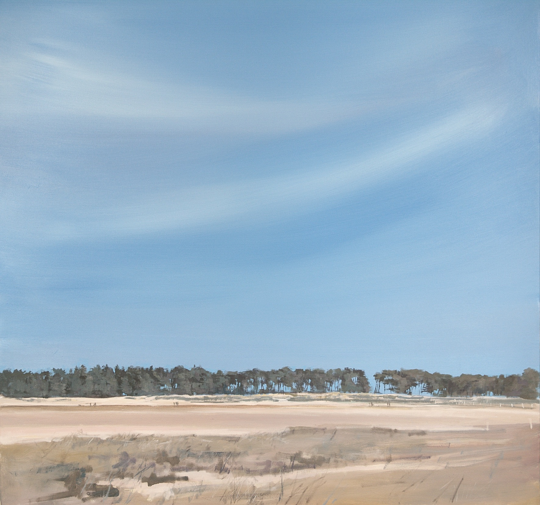 HOLKHAM TREES EAST, NORFOLK: 32 x 32 in: Acrylic
