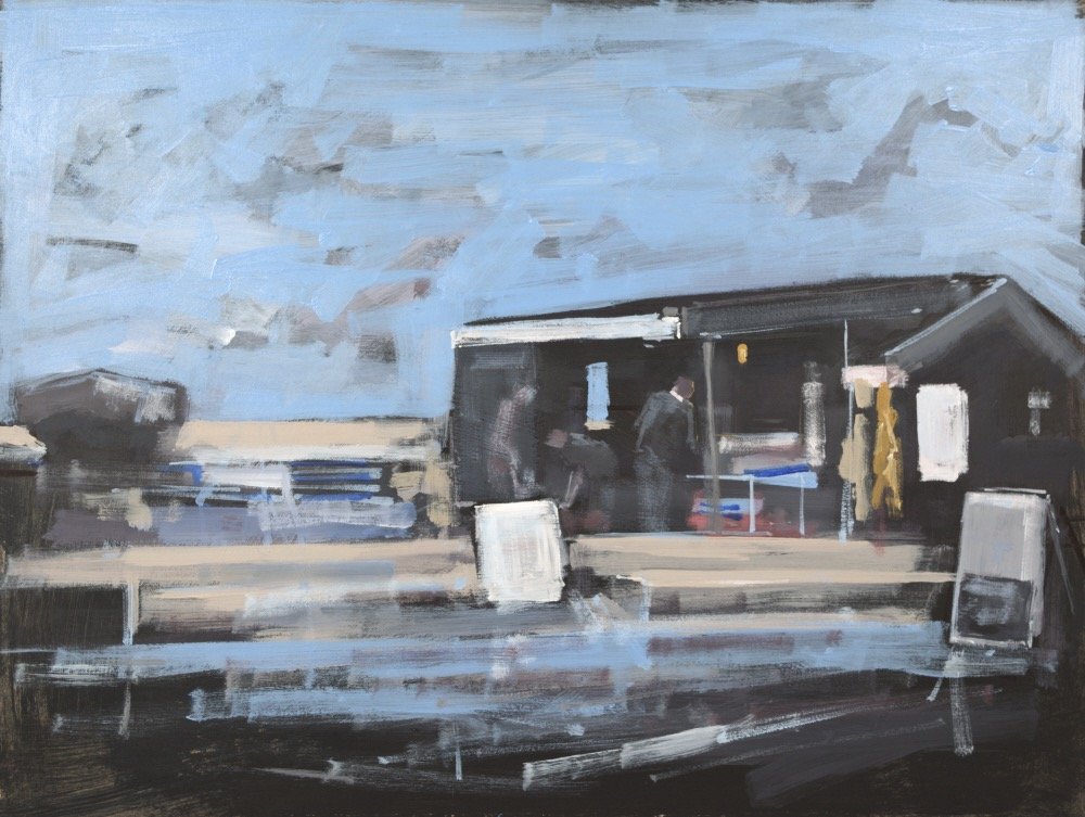 FISH SHED AT ALDEBURGH: 12 x 16 in: Acrylic