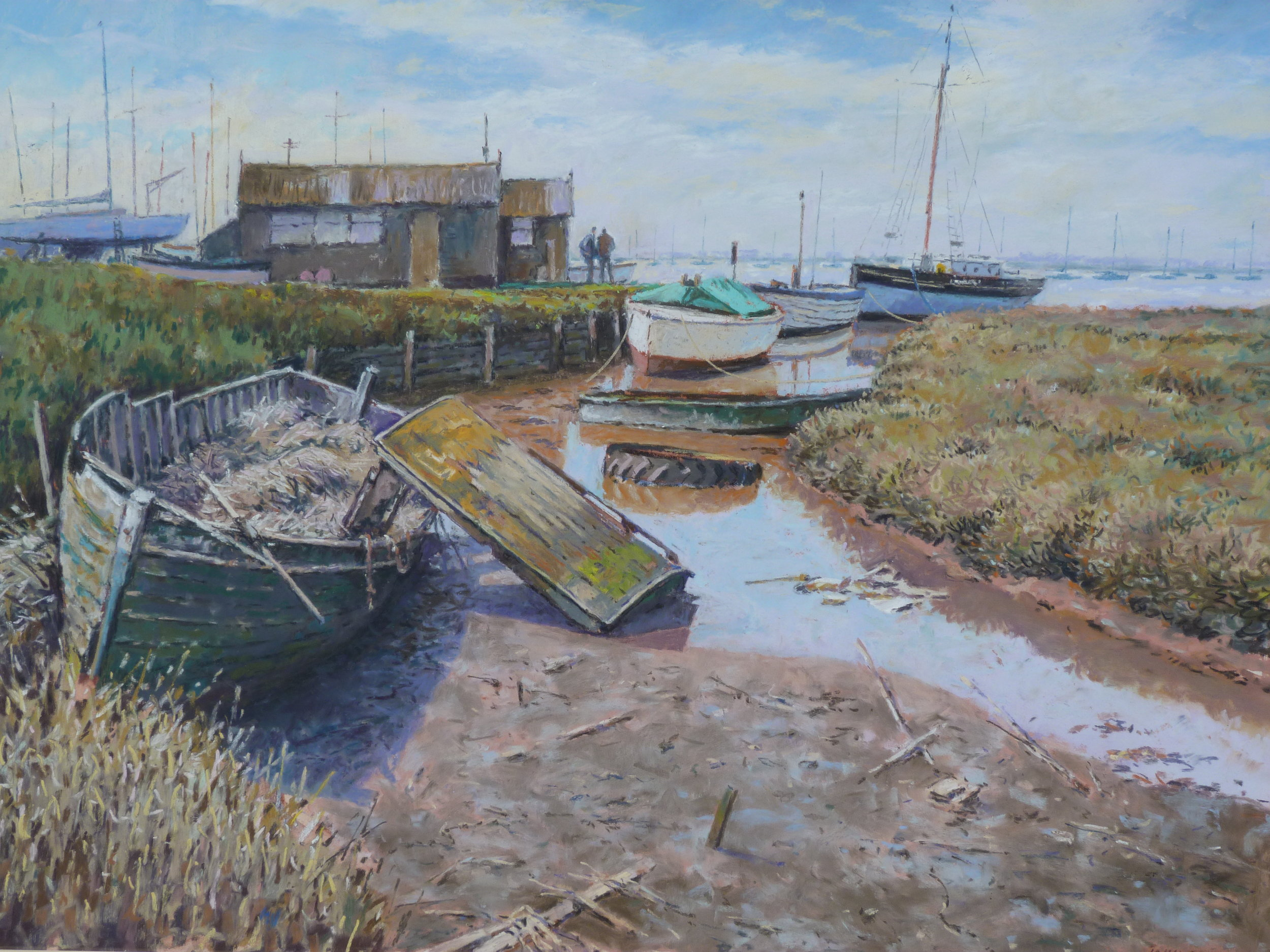 FLOTSAM AND JETSAM: 16 x 24 in: pastel