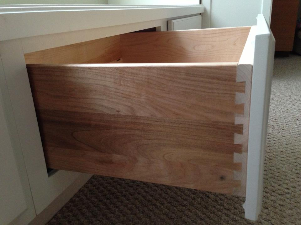 All Wood Dove Tail Drawers.