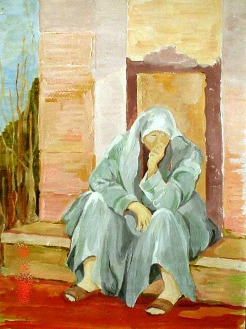 11. f. mereu, donna mediorientale, tempere su tela, 2001.jpg