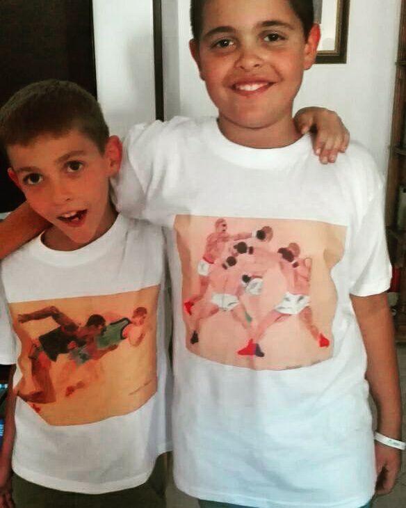 riccardo papi e fratello, disegni stampati su T-shirts, 2017