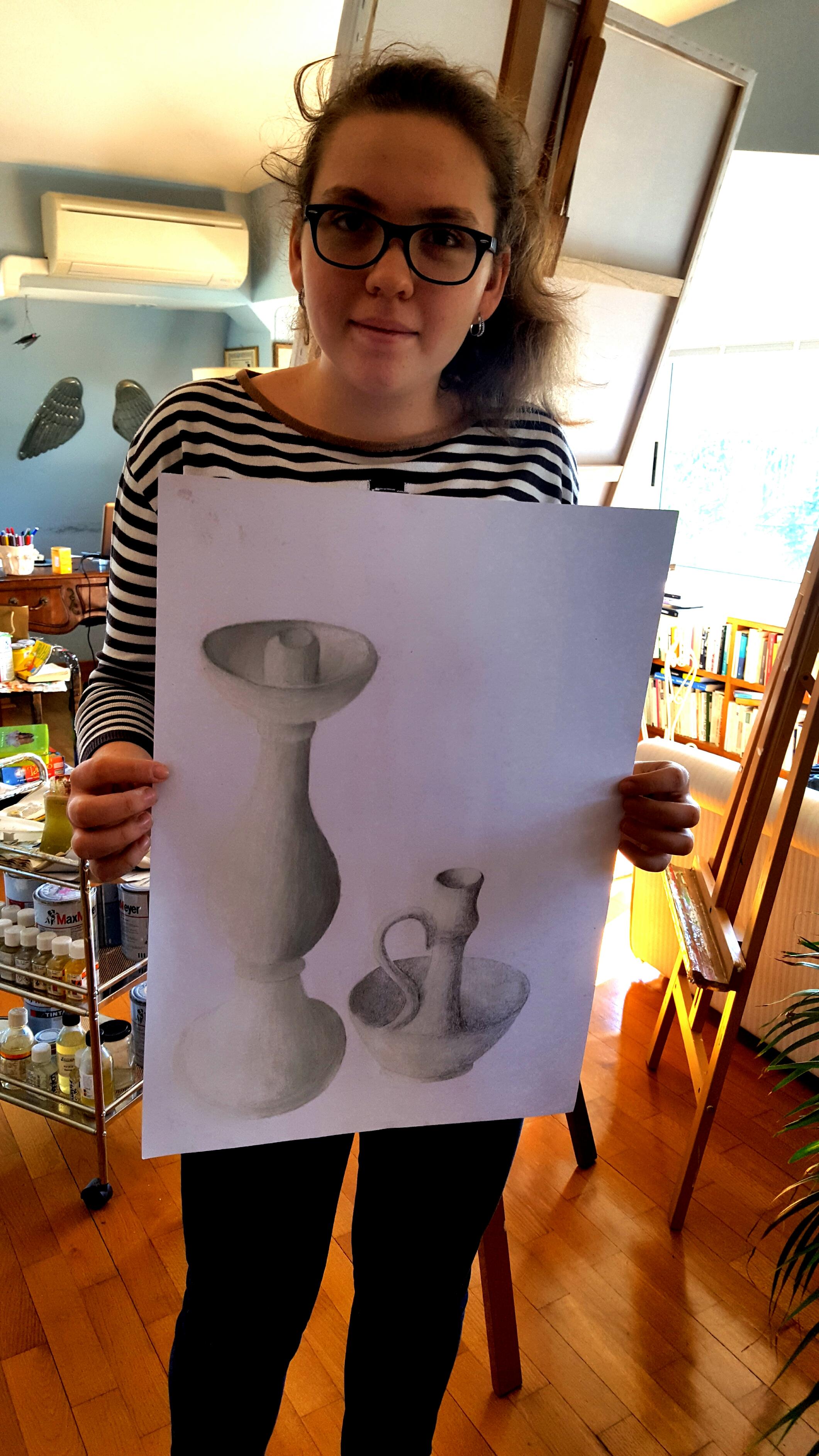 khrystyna honchak, 13 anni, disegno dal vero e chiaroscuro, 2017