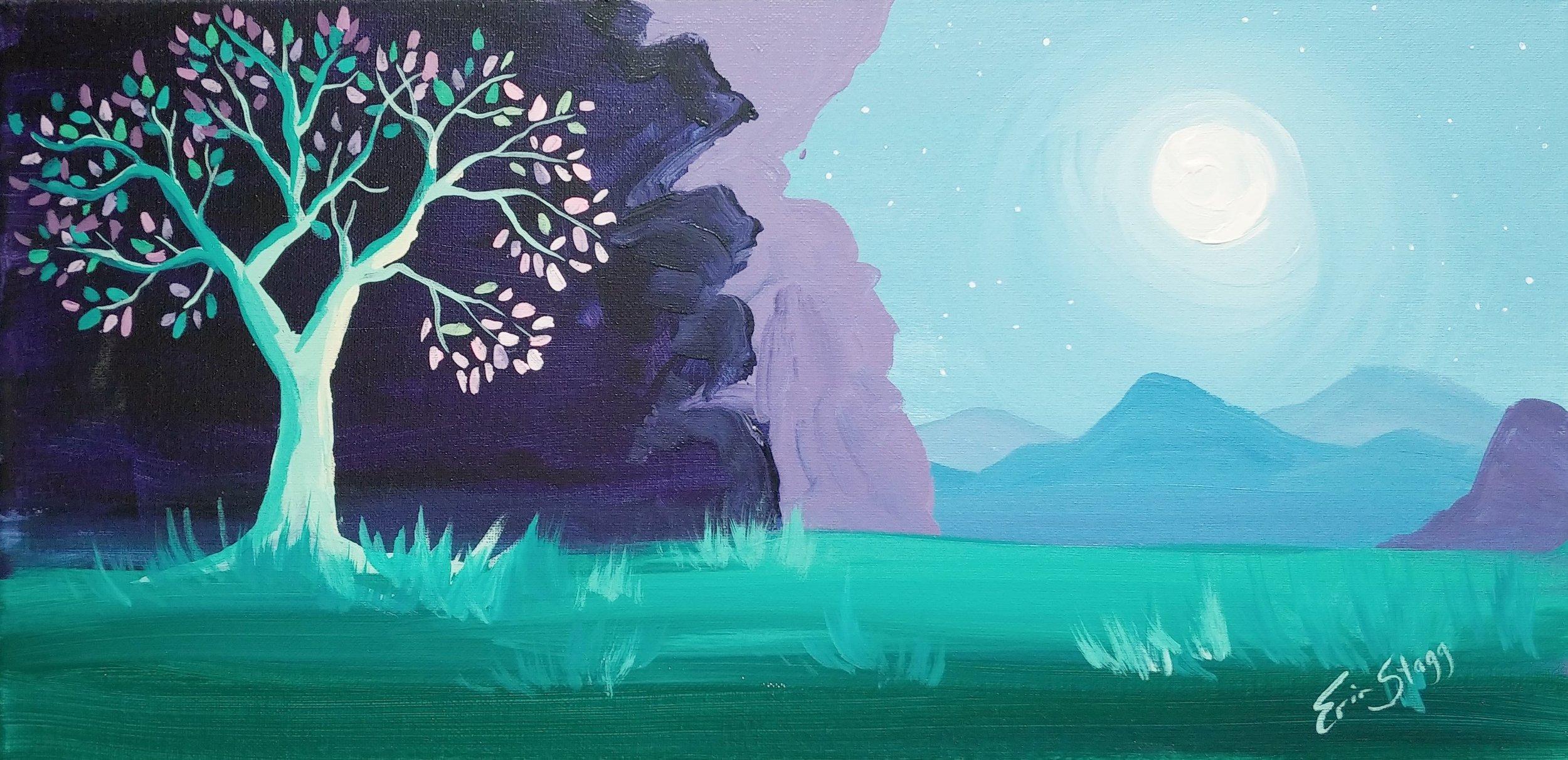 Moonlit Tree - unique shape!
